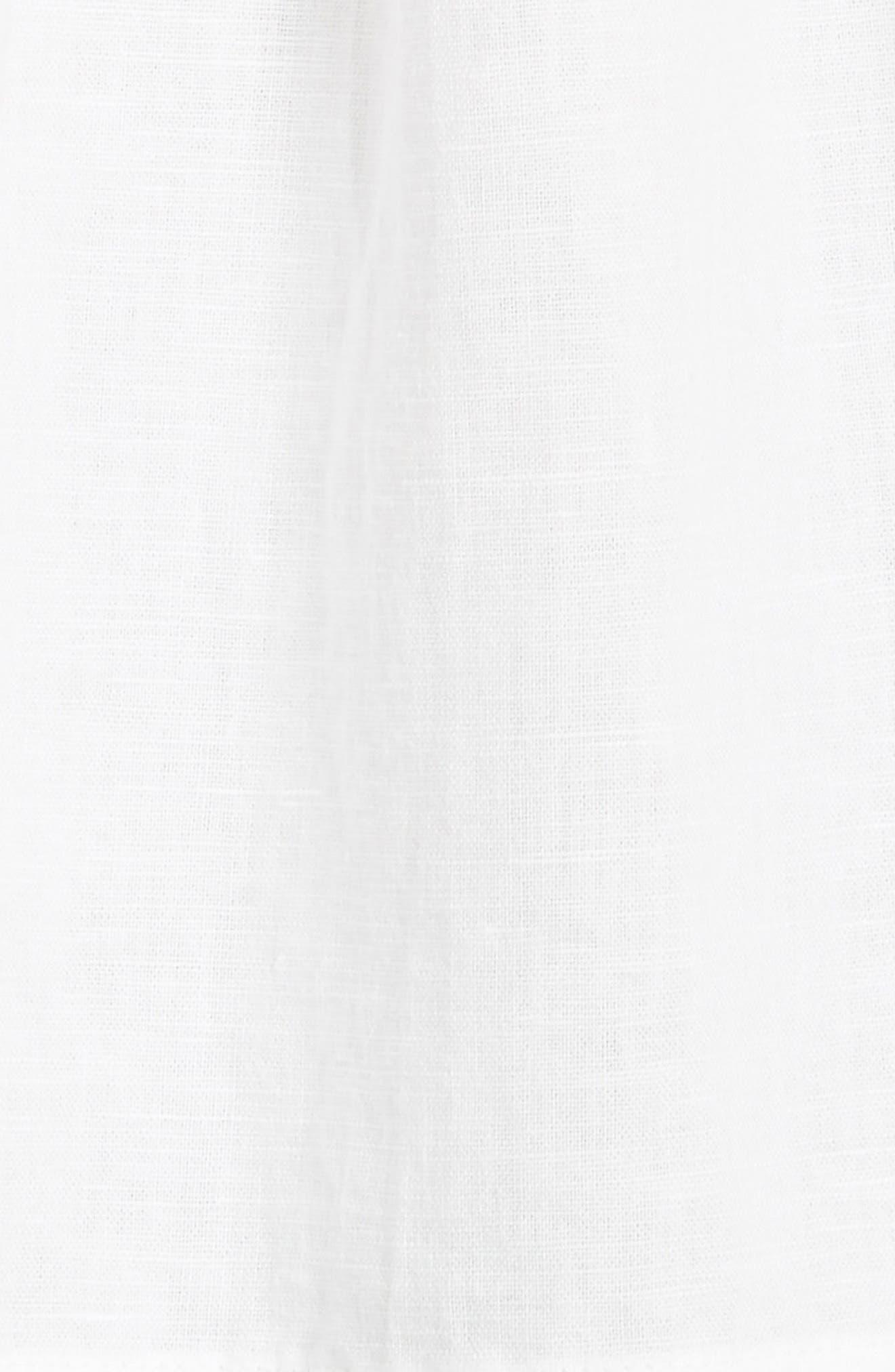 The Tulip Linen & Cotton Top,                             Alternate thumbnail 5, color,                             100