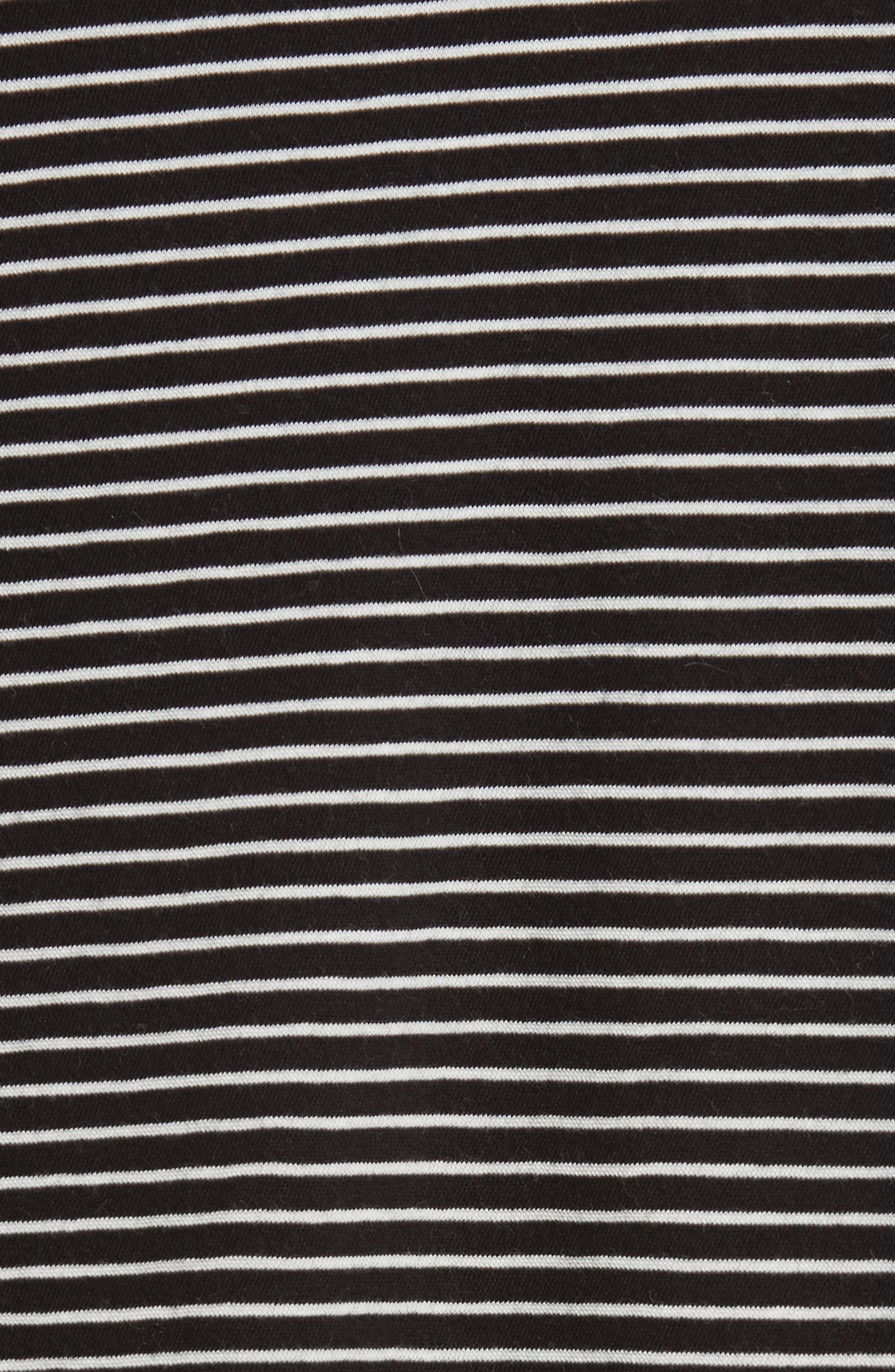 Stripe Boatneck Tee,                             Alternate thumbnail 5, color,                             001