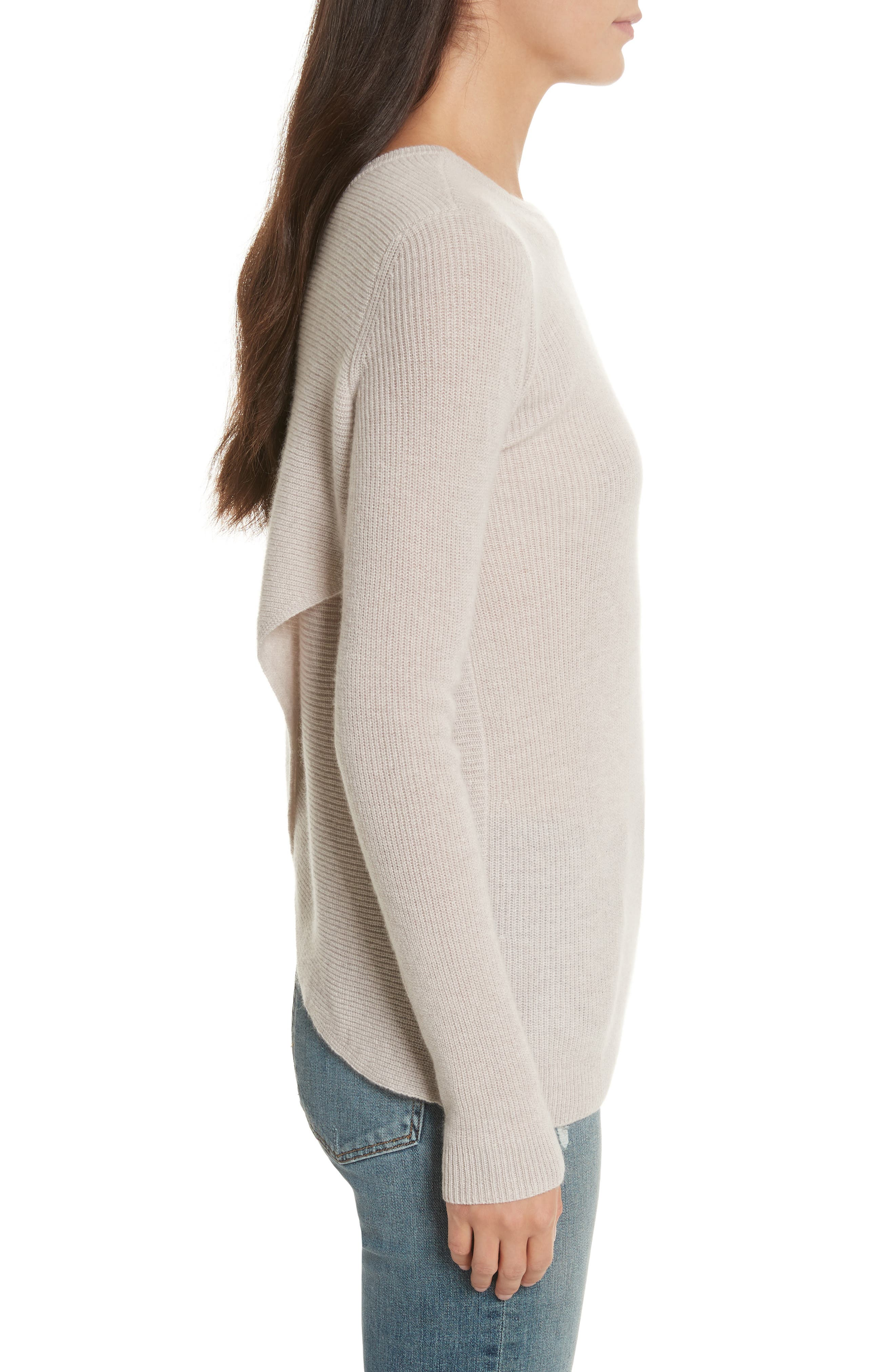 Cashmere Reversible Surplice Sweater,                             Alternate thumbnail 8, color,