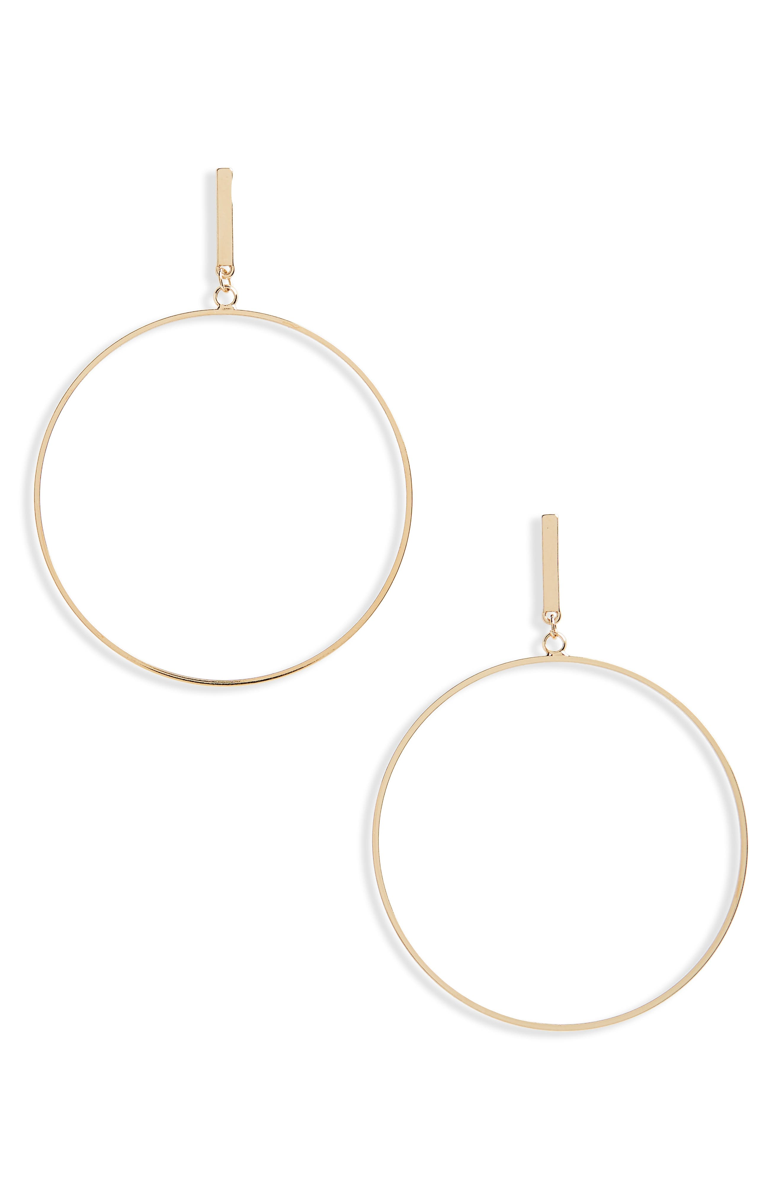 Large Post Hoop Earrings,                             Main thumbnail 2, color,
