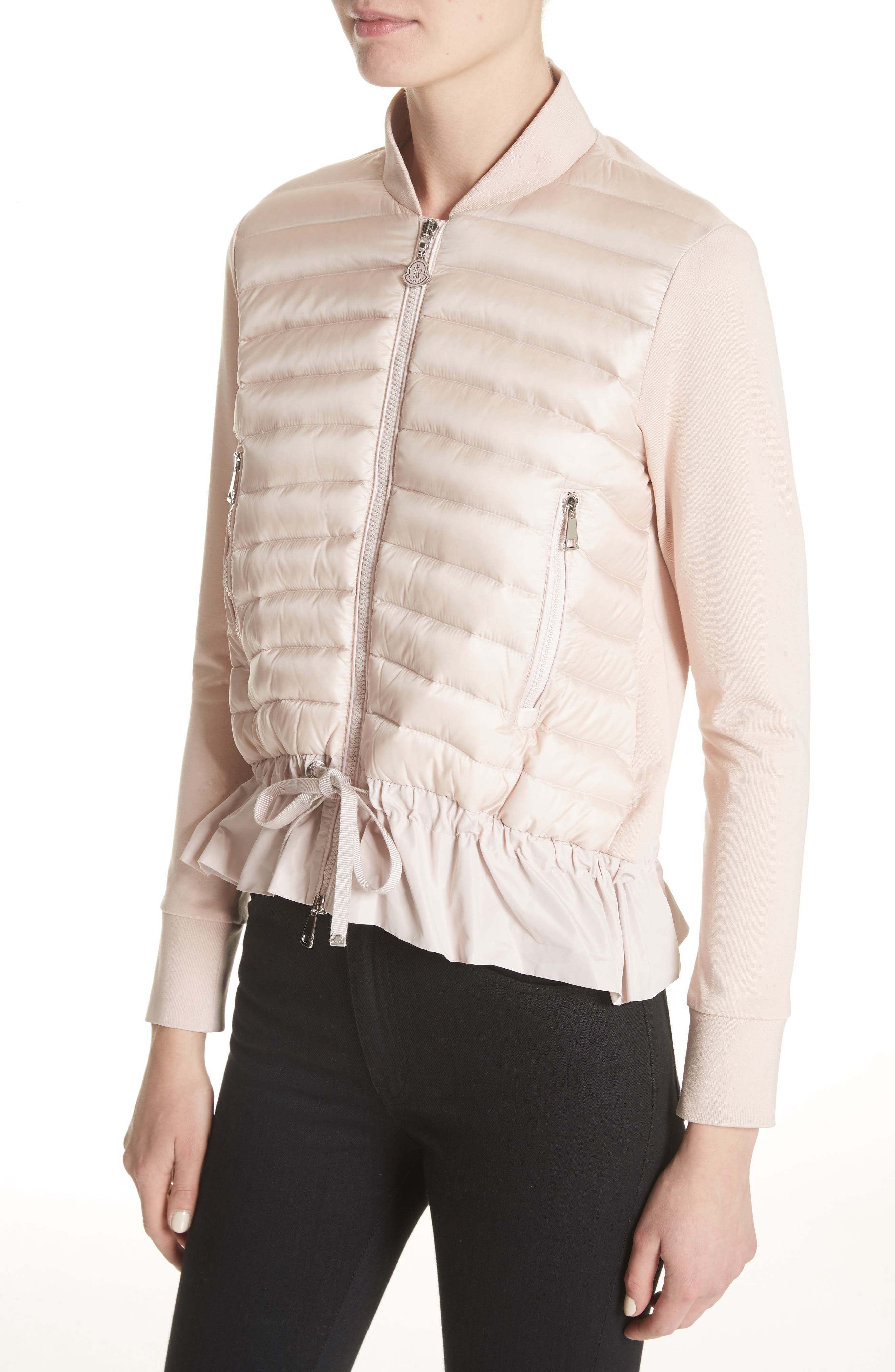 Quilted Down & Cotton Bomber,                             Alternate thumbnail 8, color,