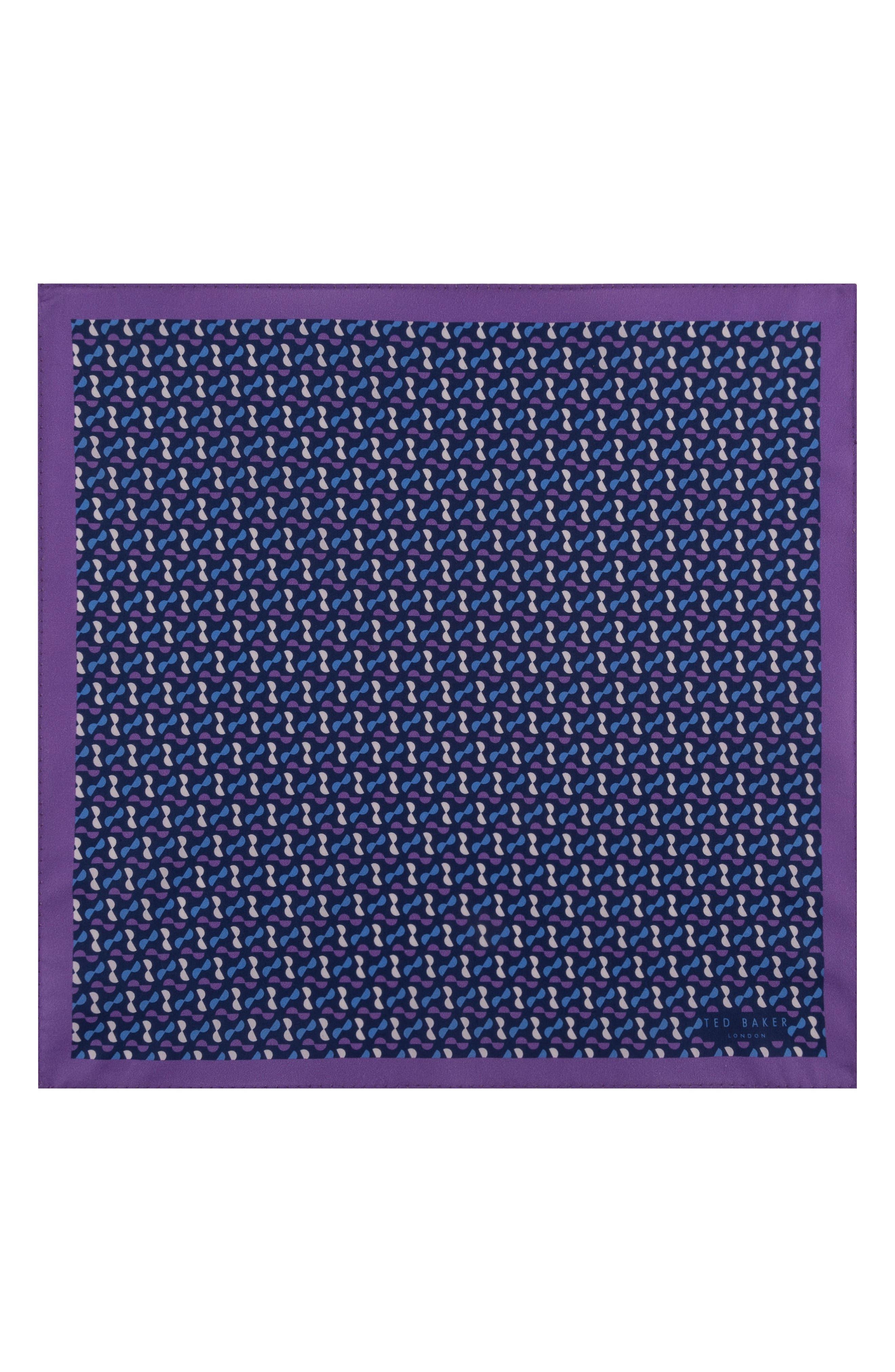 Geometric Cotton Pocket Square,                             Alternate thumbnail 2, color,                             500