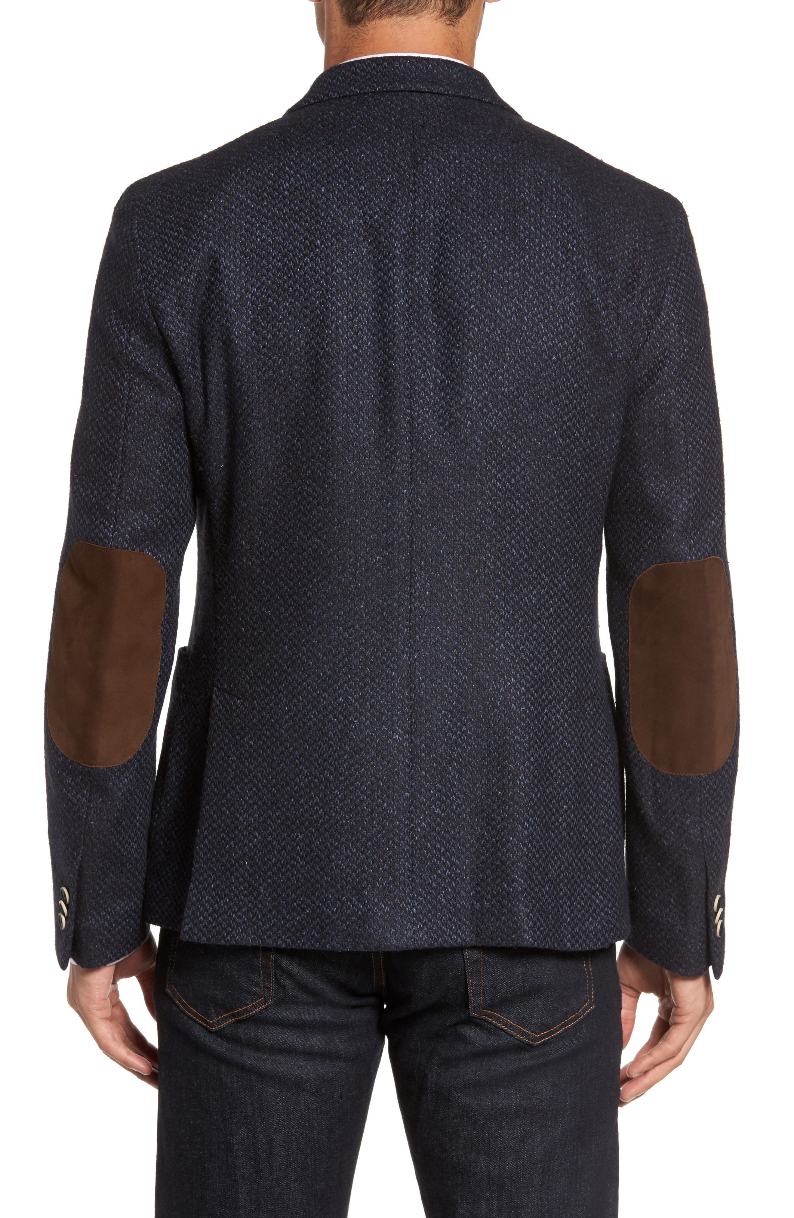 Woven Wool & Silk Blend Sport Coat,                             Alternate thumbnail 2, color,