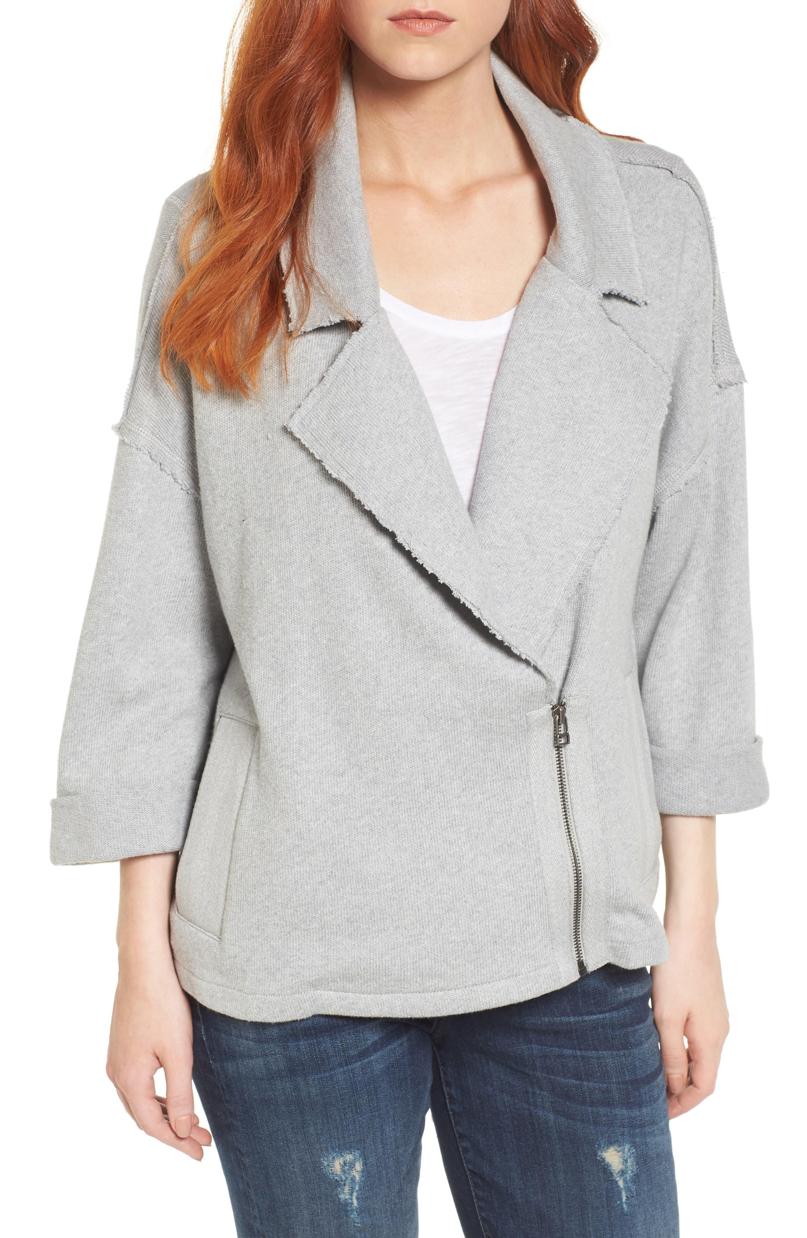 Knit Moto Jacket,                         Main,                         color, 030