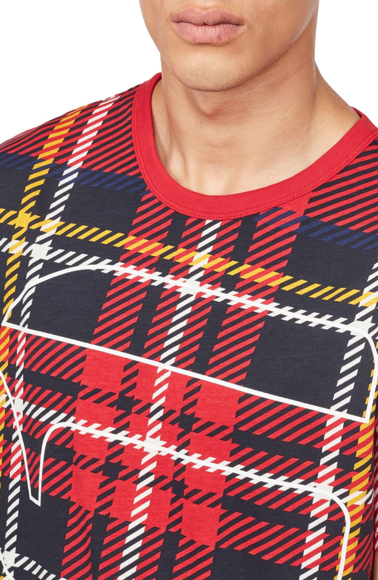 Royal Tartan Graphic T-Shirt,                             Alternate thumbnail 4, color,                             100