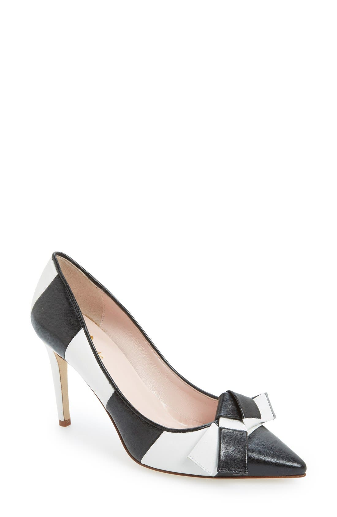'pia' pointy toe pump,                         Main,                         color, 001