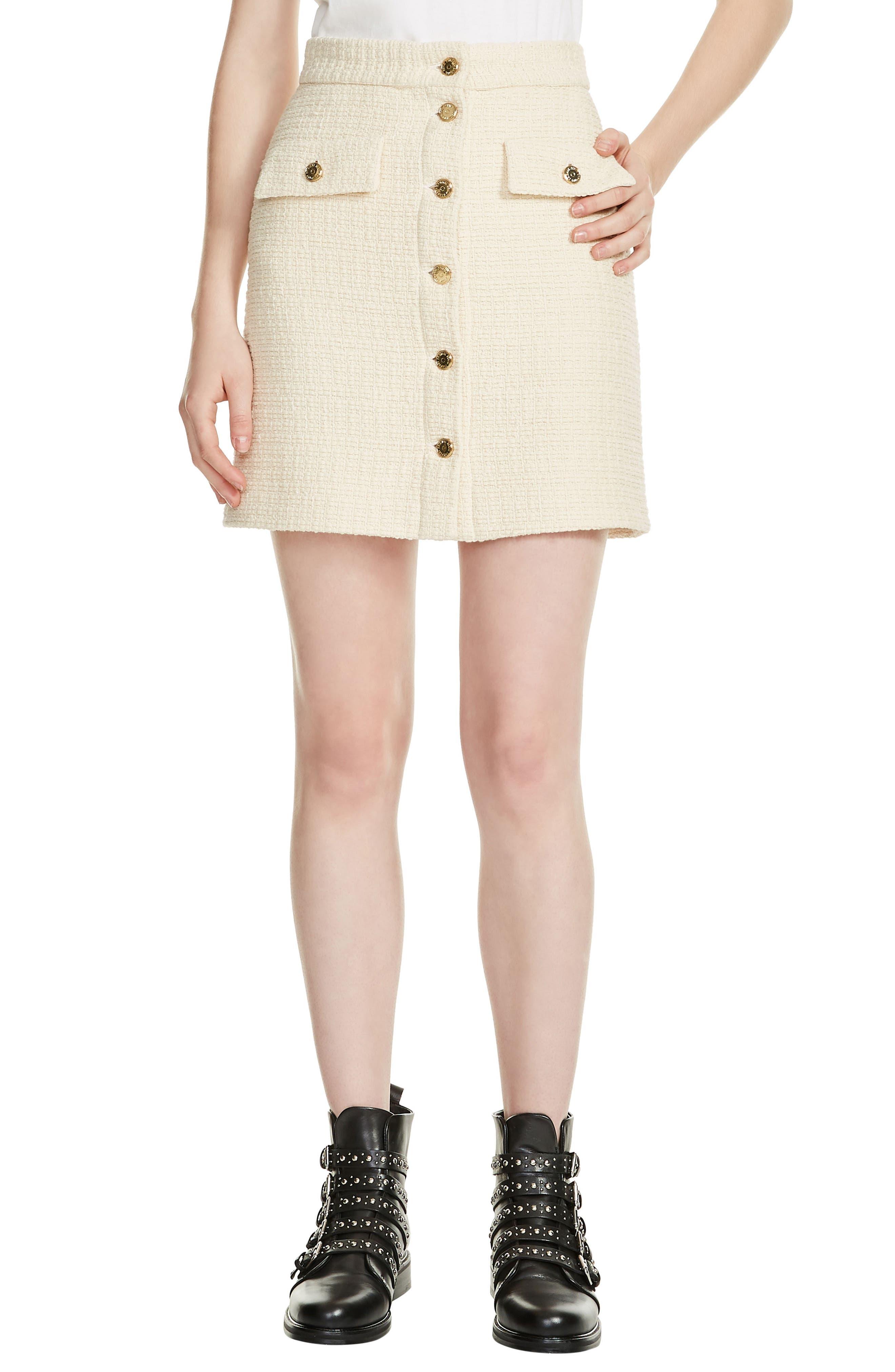 Tweed Skirt,                             Main thumbnail 1, color,                             100