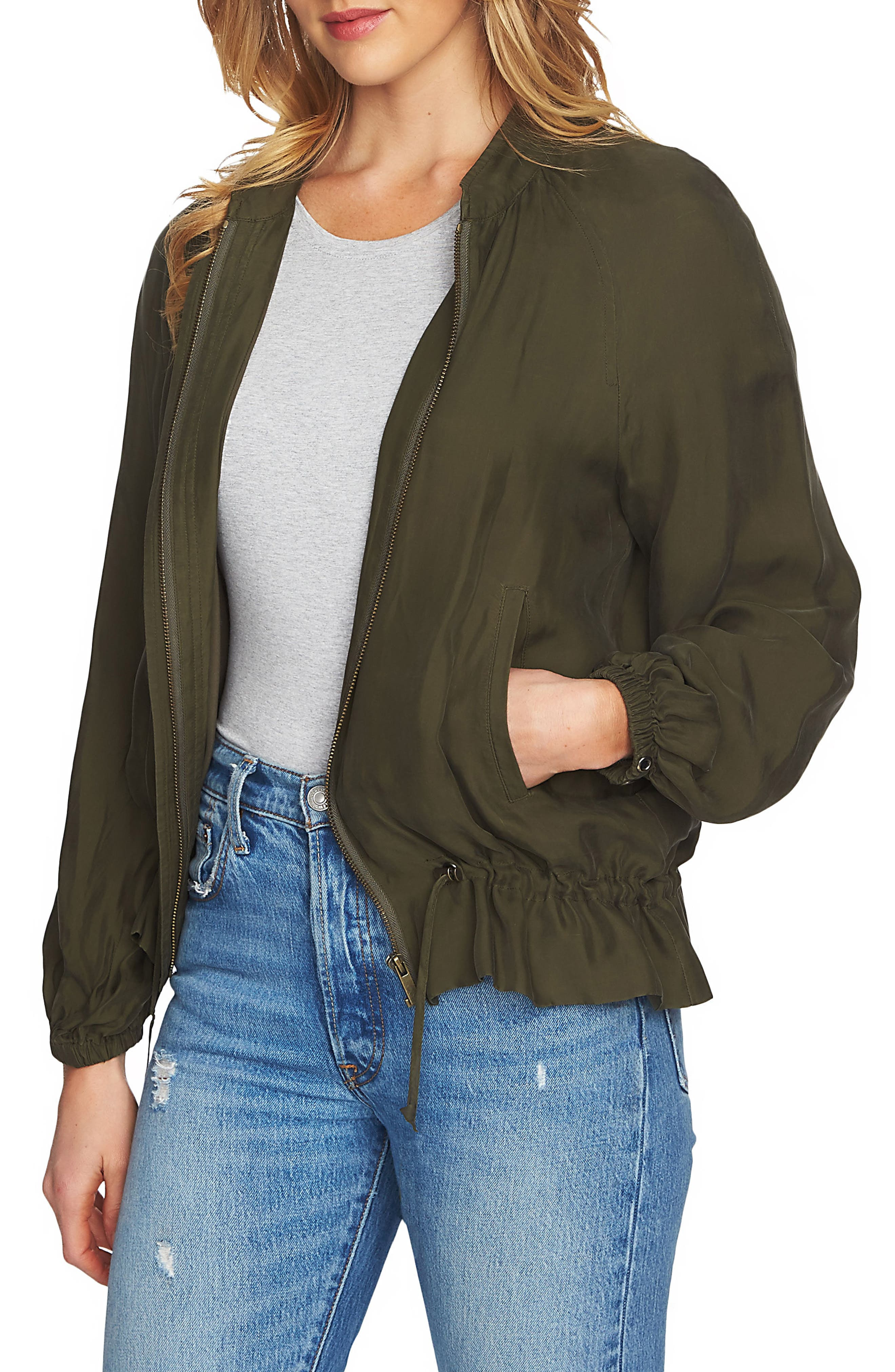 Blouson Sleeve Bomber Jacket,                             Main thumbnail 1, color,                             311