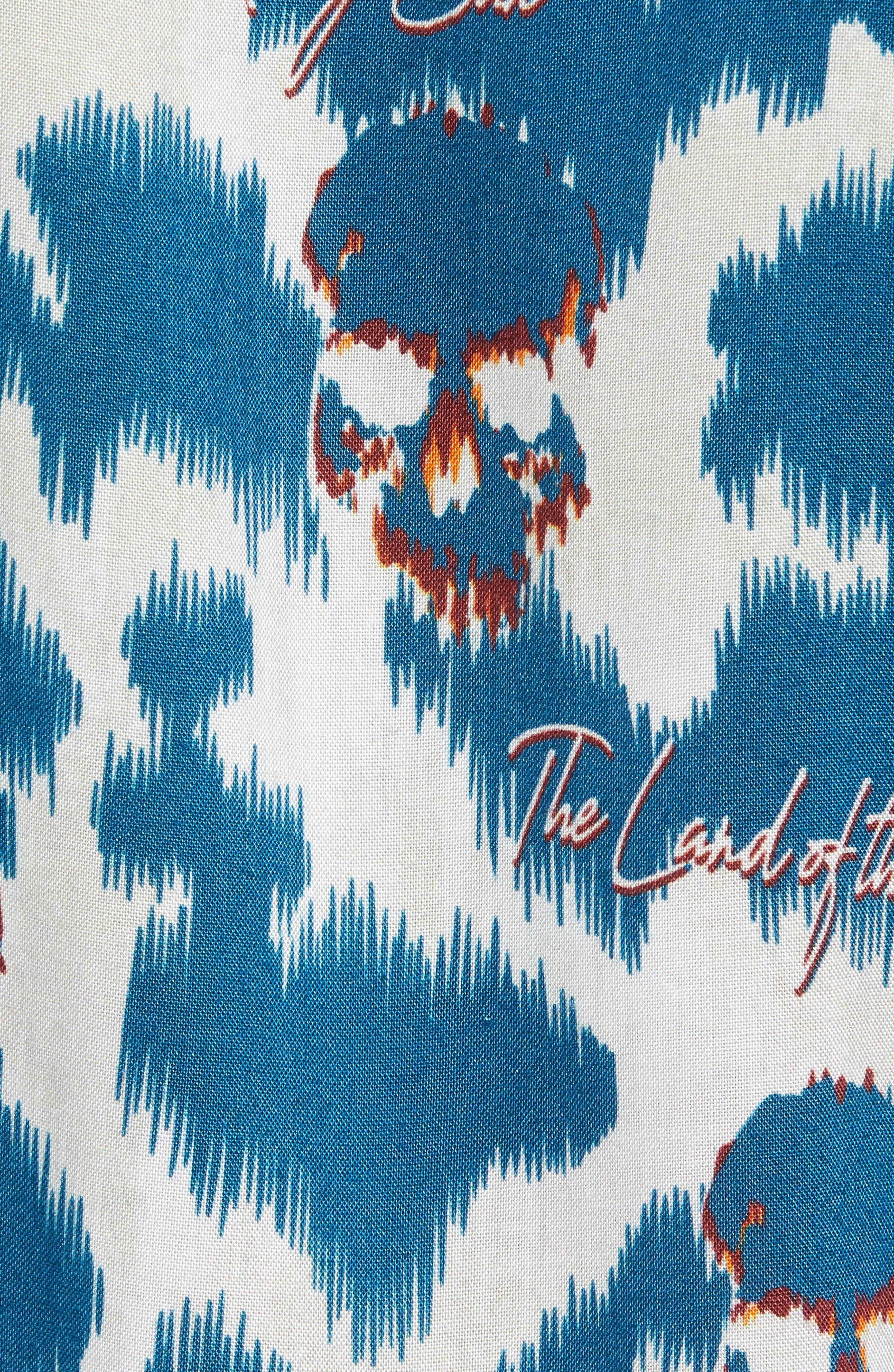 THE KOOPLES,                             Regular Fit Hawaiian Shirt,                             Alternate thumbnail 5, color,                             400