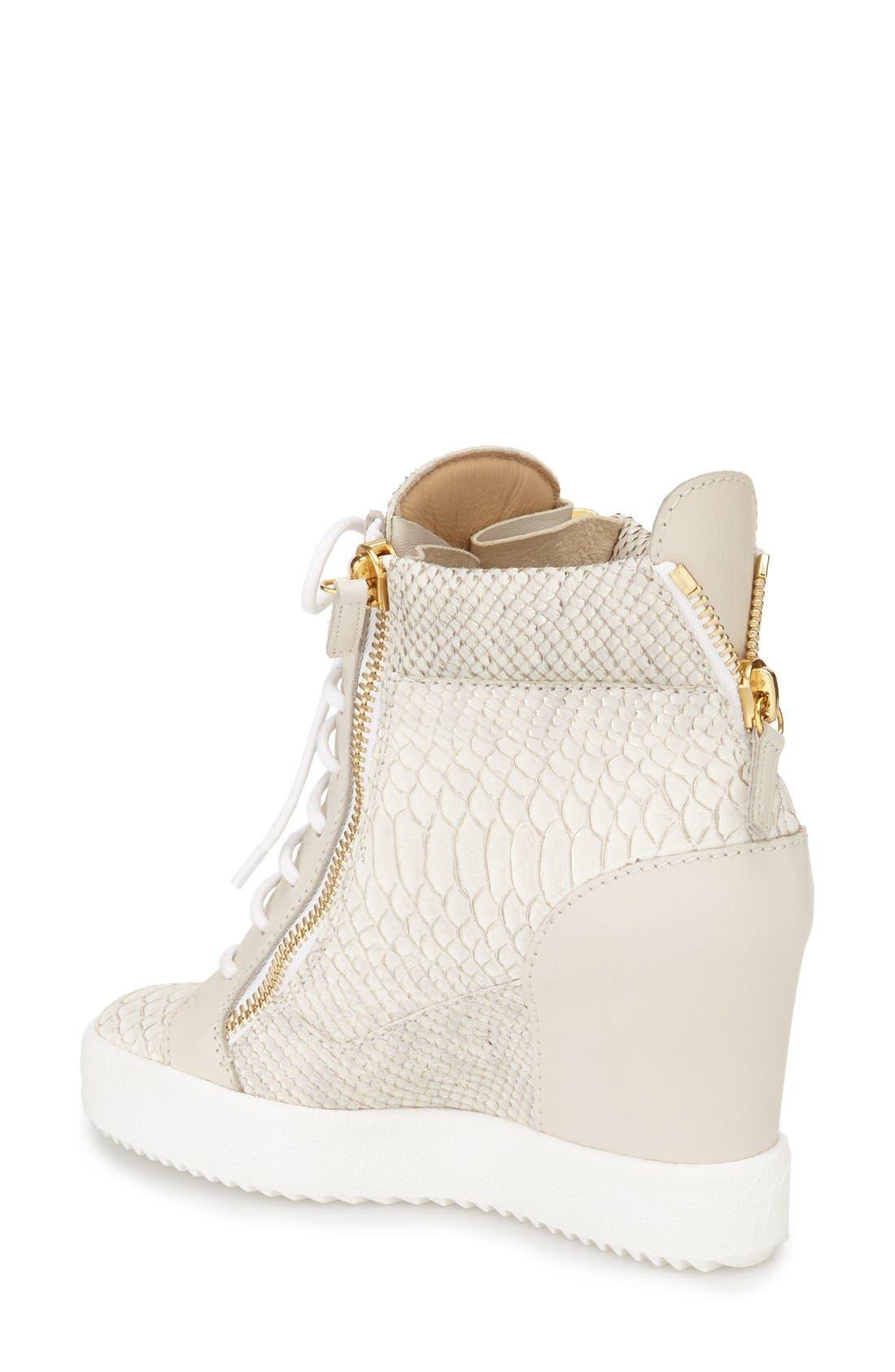 GIUSEPPE ZANOTTI,                             Ofelia Wedge Sneaker,                             Alternate thumbnail 2, color,                             040