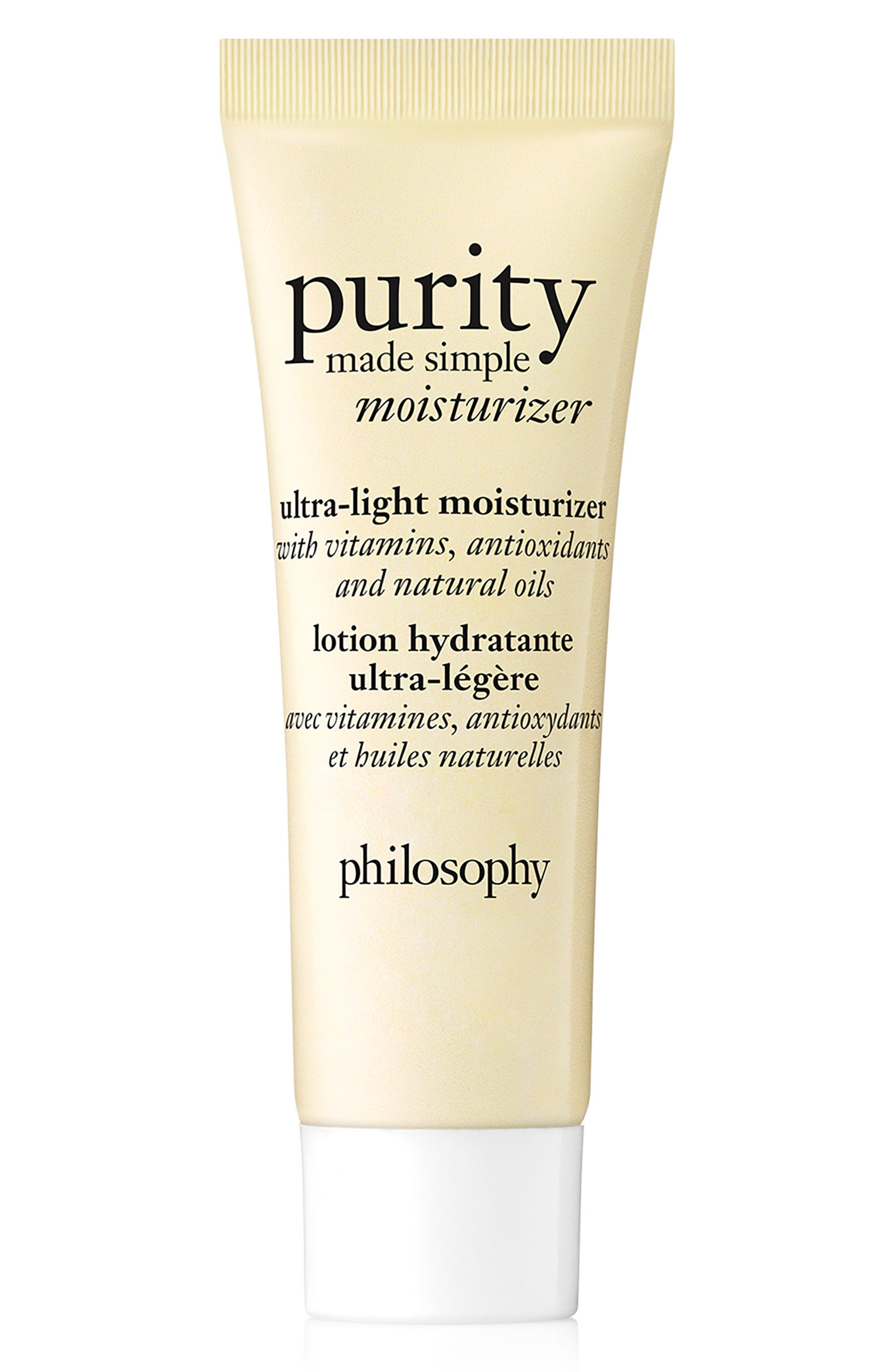 purity made simple ultra-light moisturizer,                         Main,                         color, NO COLOR