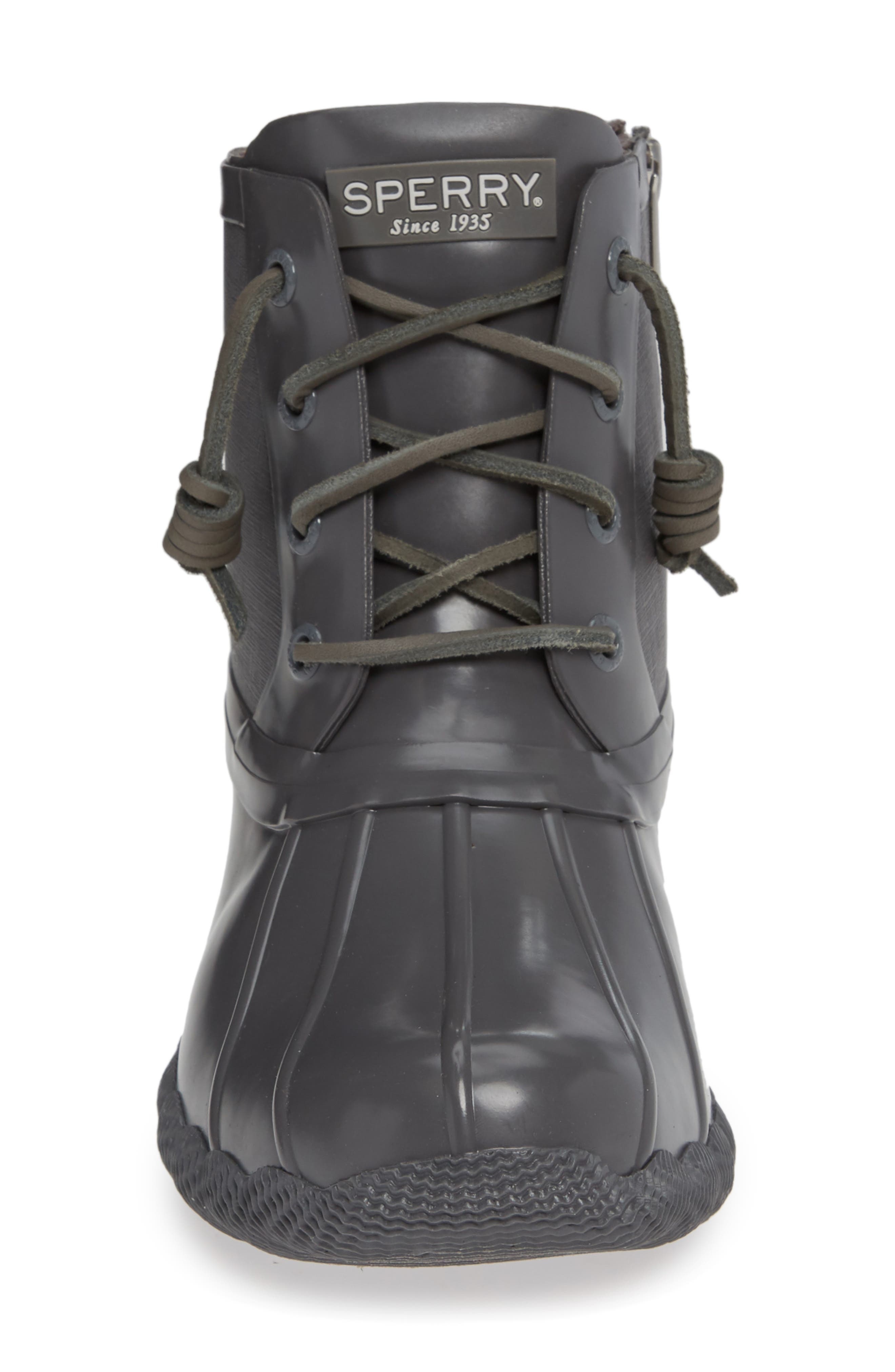 Flooded Rubber Saltwater Bootie,                             Alternate thumbnail 4, color,                             GREY