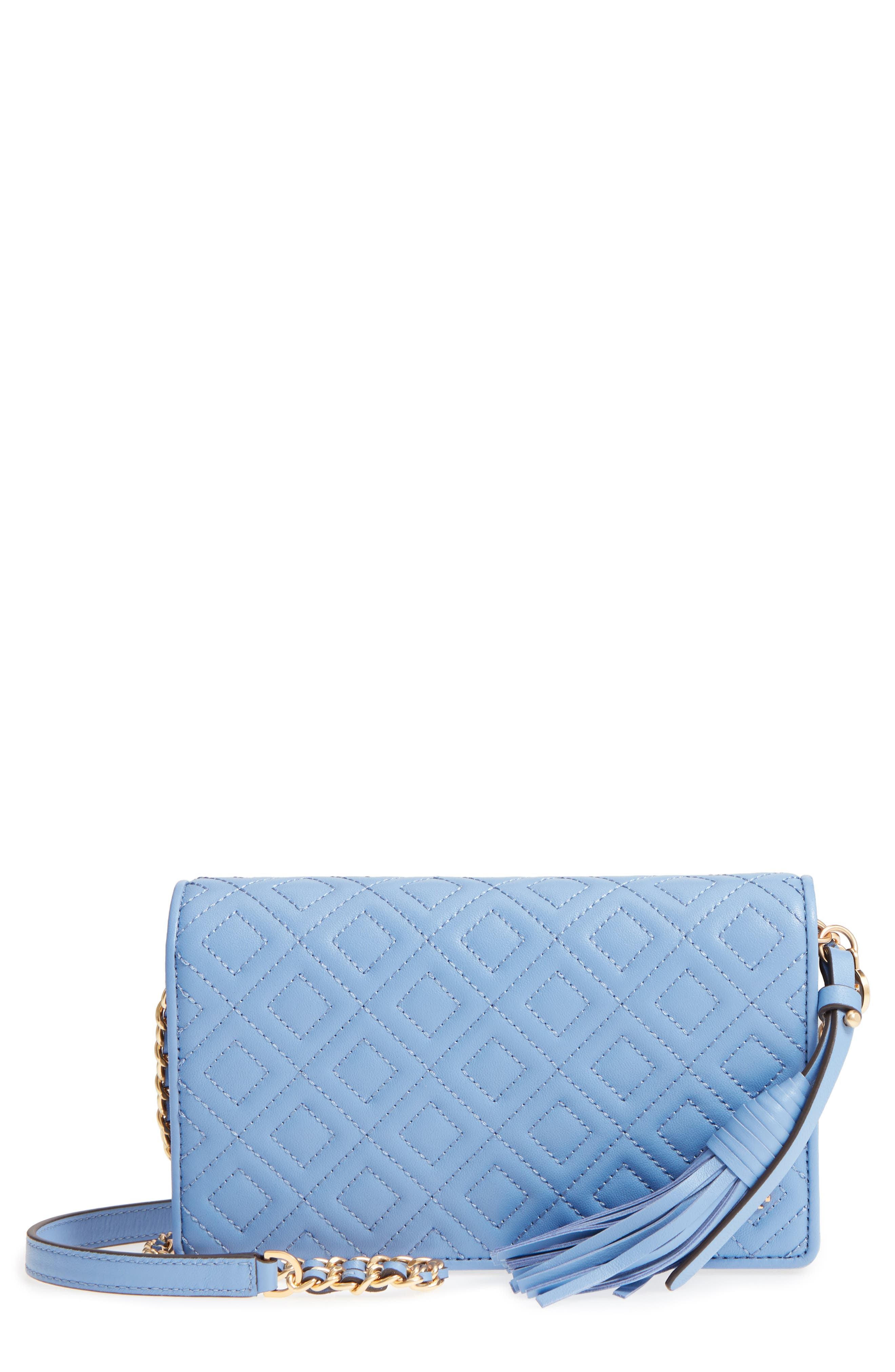 Fleming Leather Wallet/Crossbody,                         Main,                         color, LARKSPUR