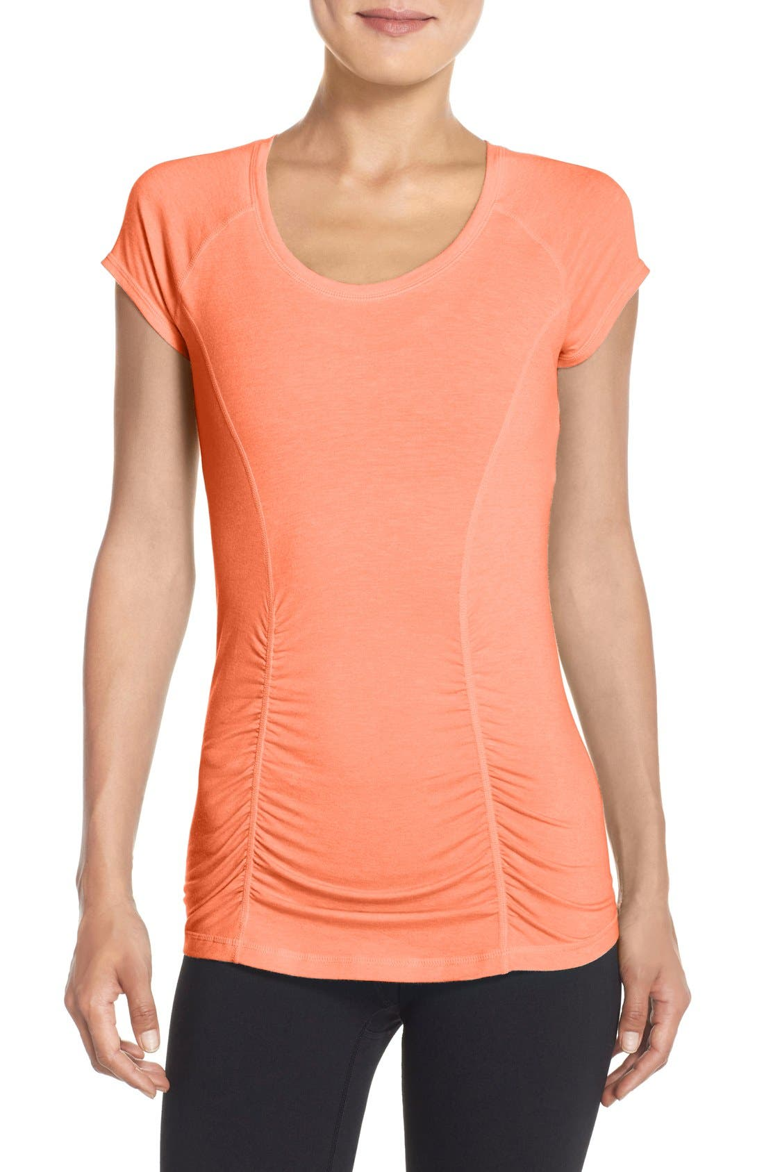 'Z 6' Ruched Tee,                             Main thumbnail 22, color,