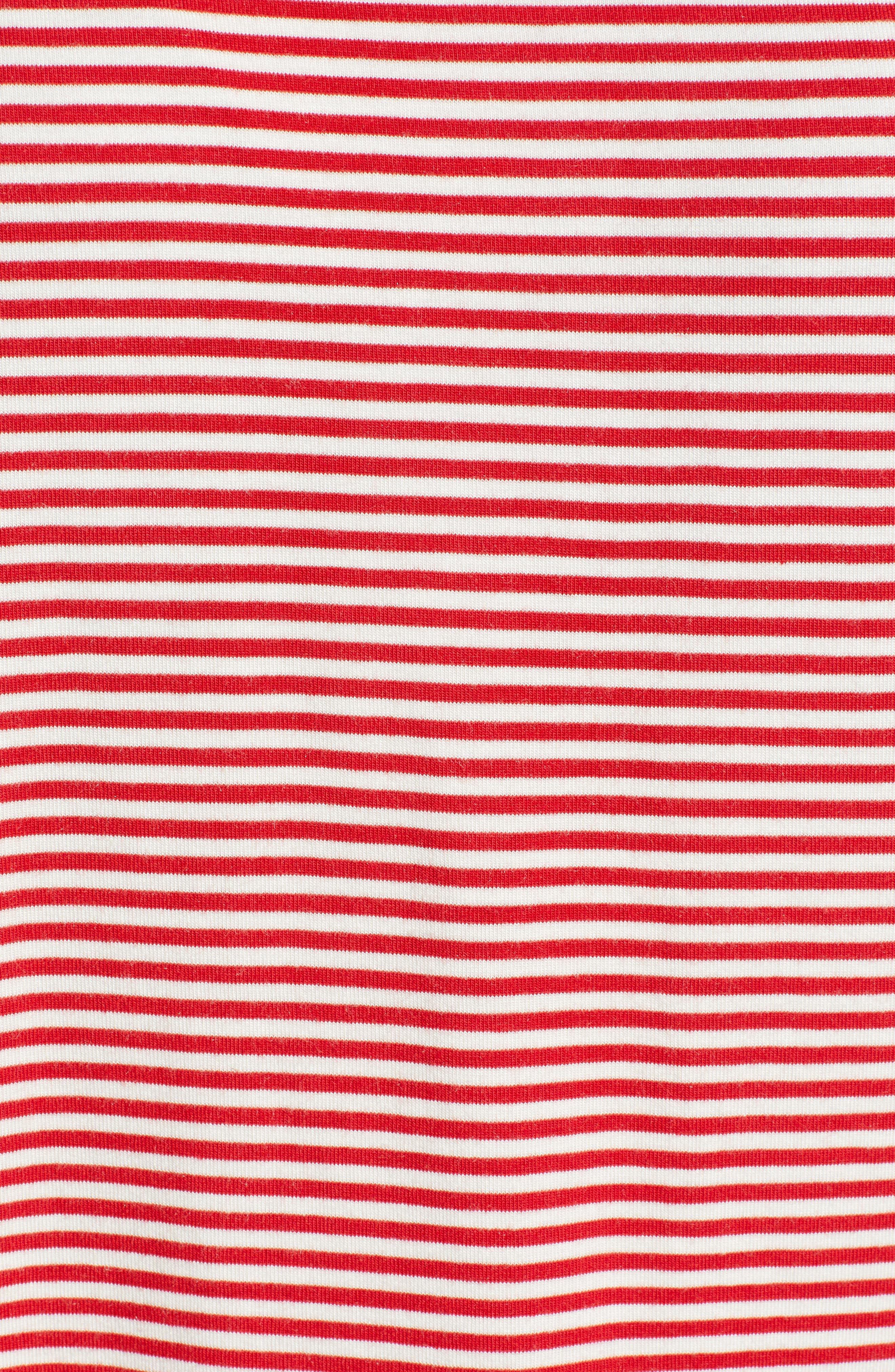 Mixed Stripe Lounge Set,                             Alternate thumbnail 5, color,                             CALYPSO RED
