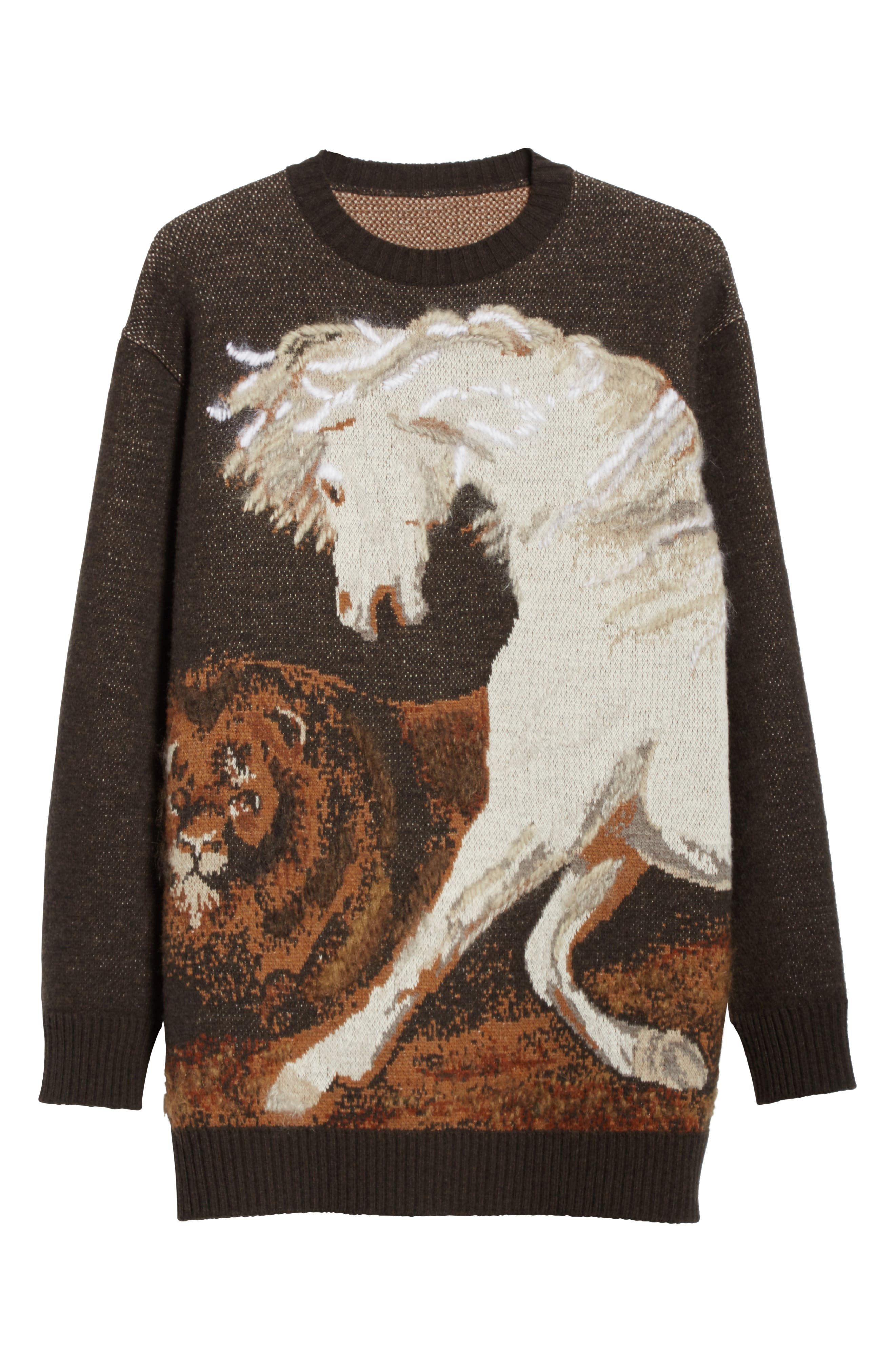 Horse Intarsia Sweater,                             Alternate thumbnail 6, color,                             200