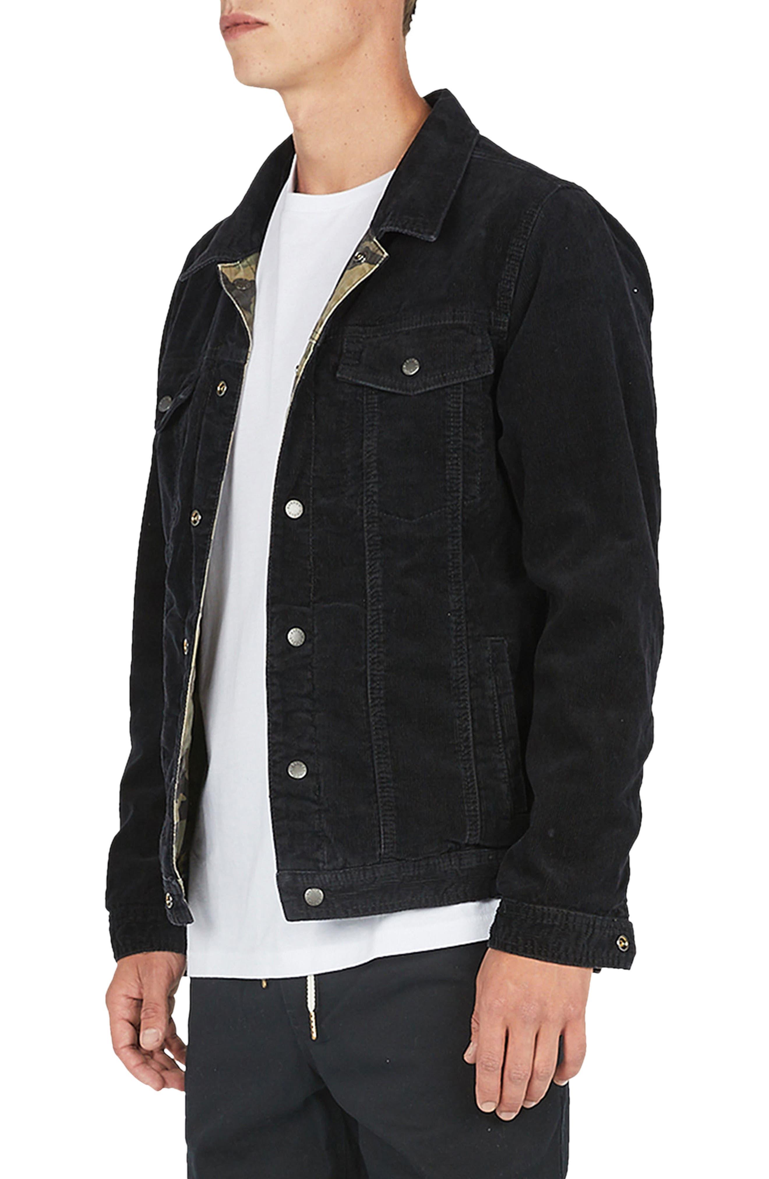 Reversible Denim Jacket,                             Alternate thumbnail 4, color,                             001