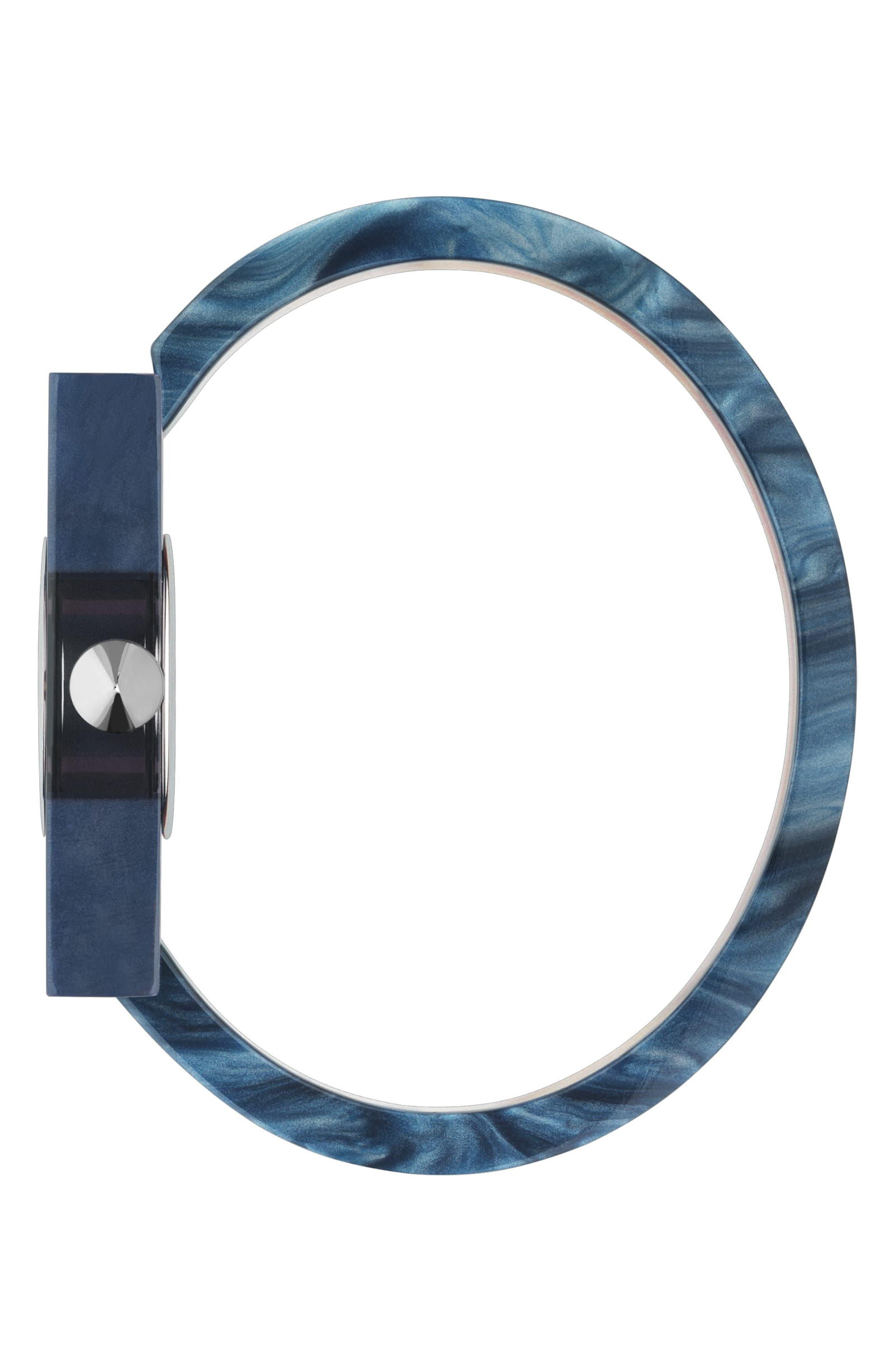 GUCCI,                             Plexiglas Bracelet Watch, 24mm x 40mm,                             Alternate thumbnail 3, color,                             PINK/ RED/ GREEN
