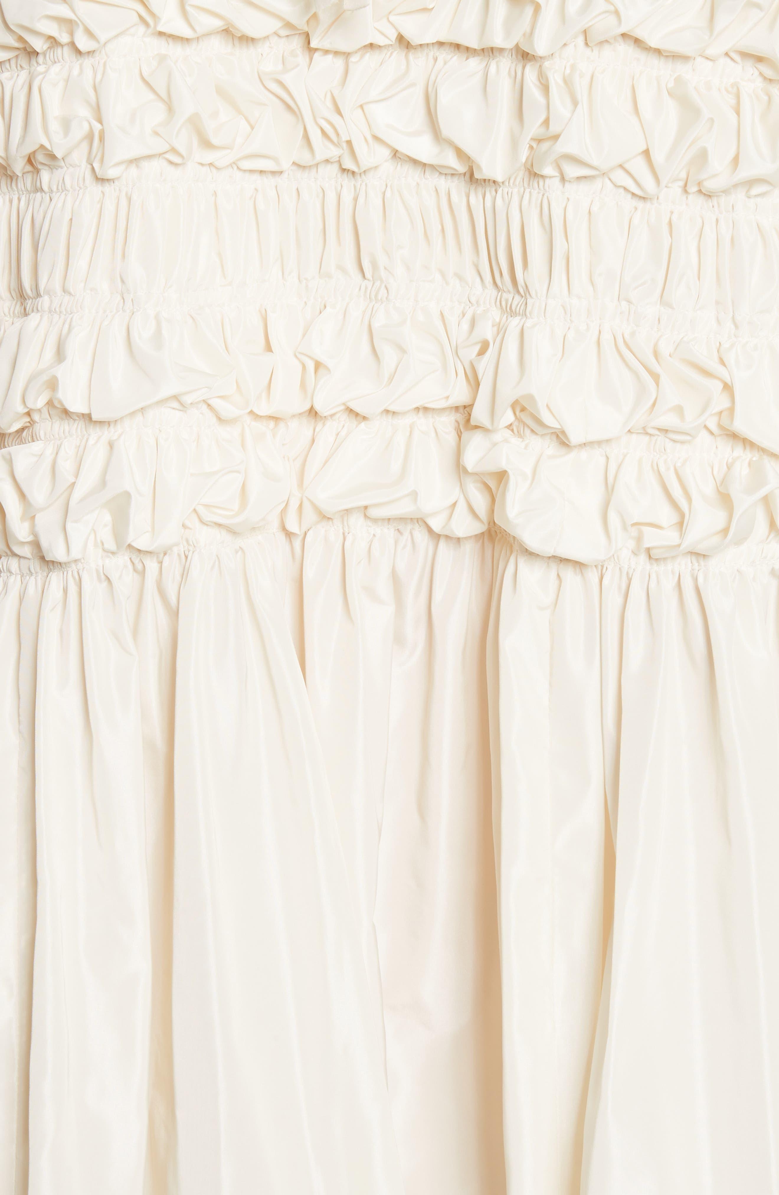 Lizzie Ruffled Taffeta Dress,                             Alternate thumbnail 5, color,                             900