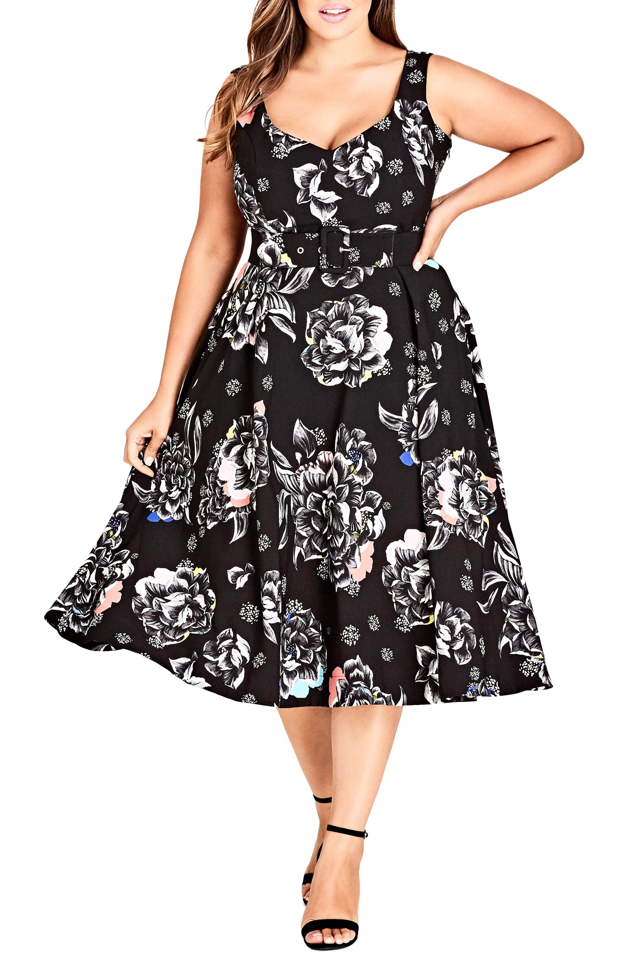 Flower Power Dress,                             Main thumbnail 1, color,                             001