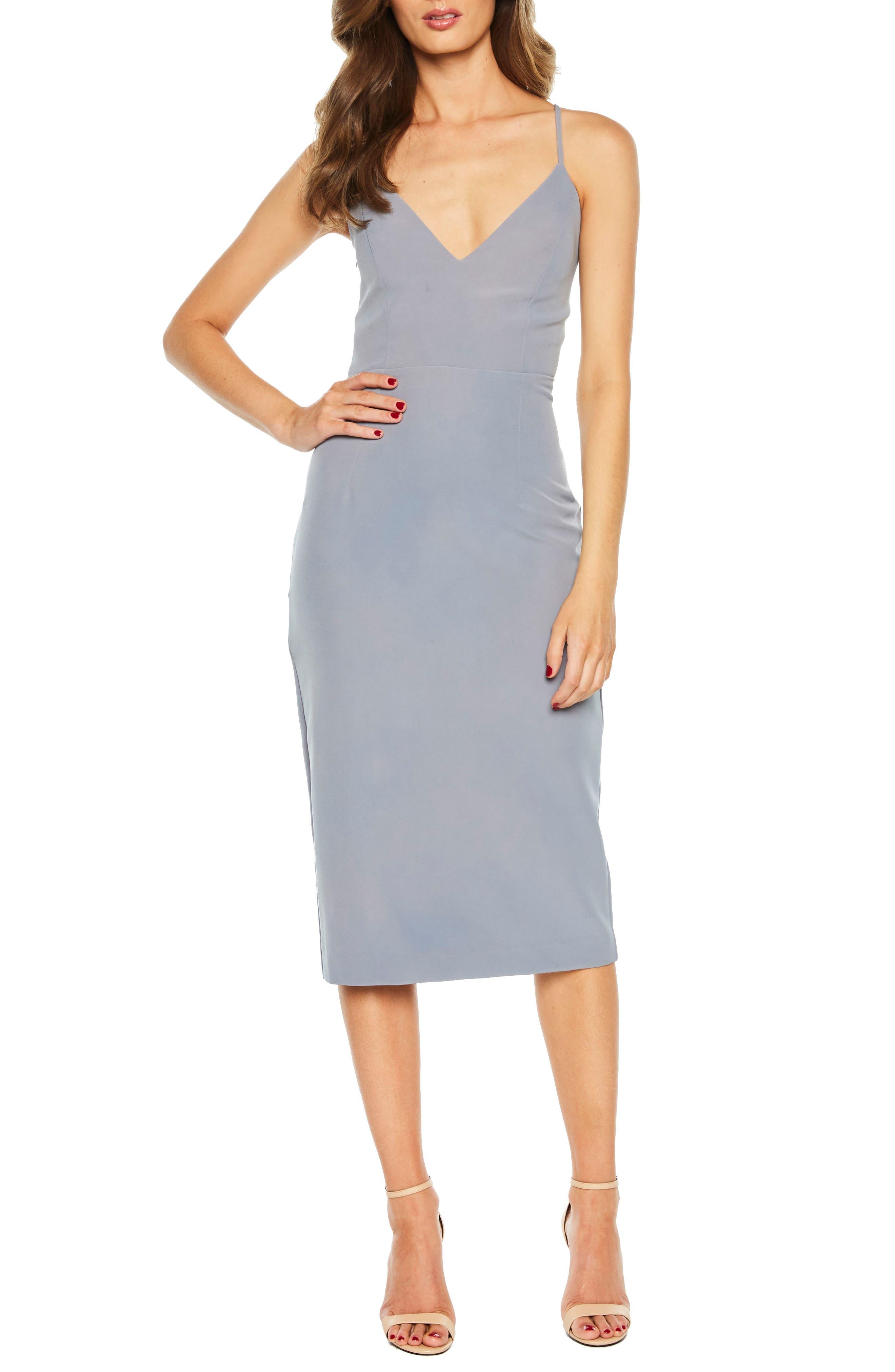 Asymmetrical Open Back Dress,                             Main thumbnail 1, color,                             425