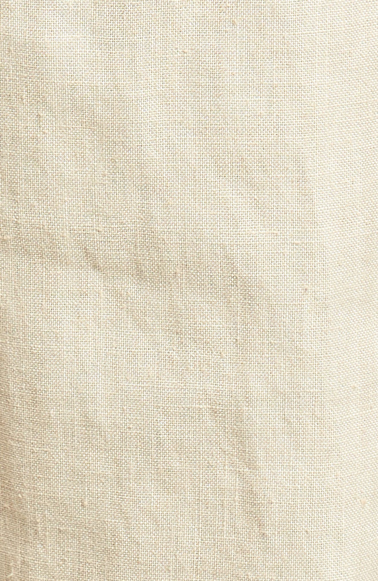 Pintuck Slim Fit Hemp Track Pants,                             Alternate thumbnail 5, color,                             WHITE SAND
