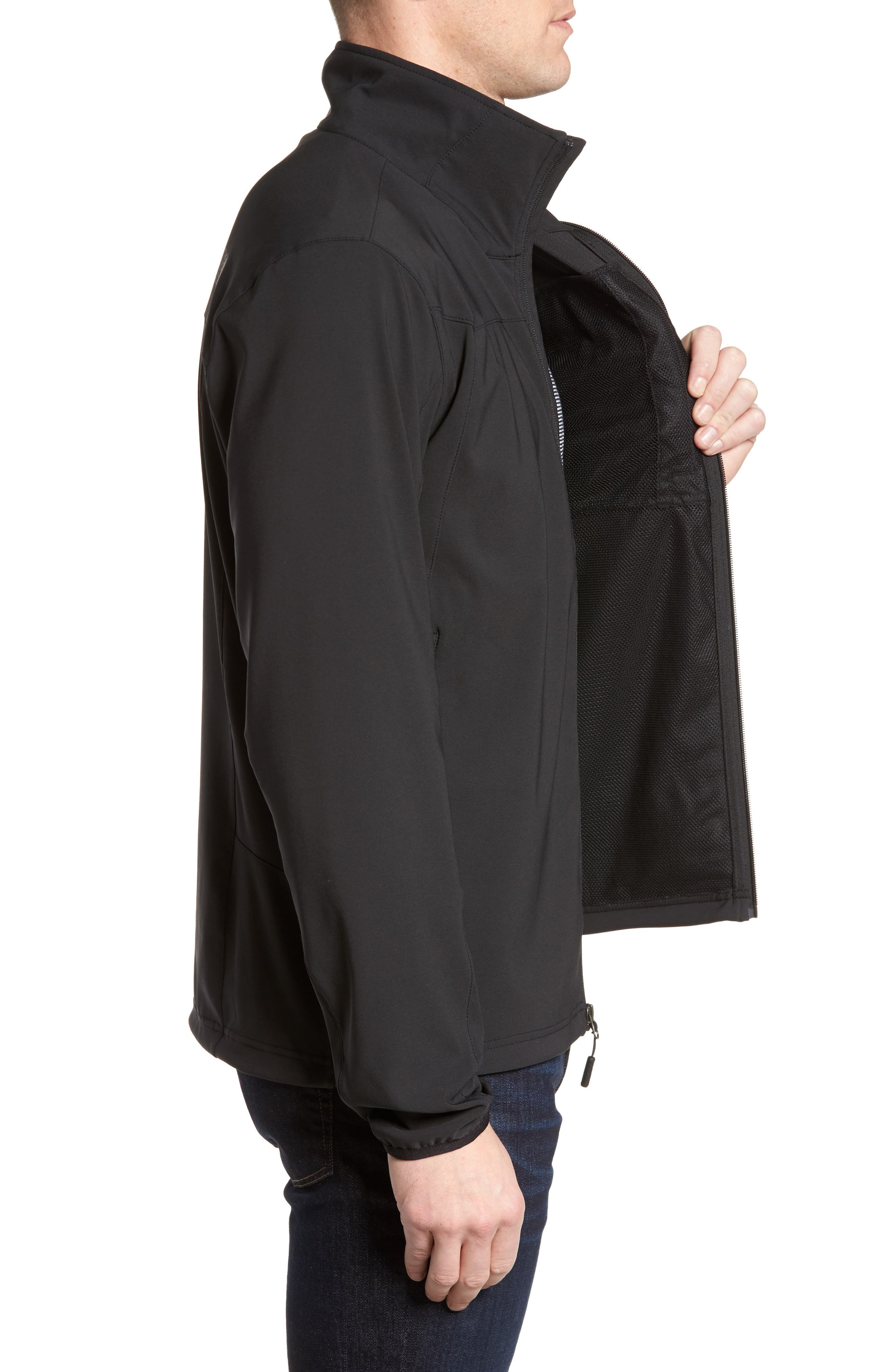 Apex Nimble Jacket,                             Alternate thumbnail 3, color,                             BLACK/ BLACK