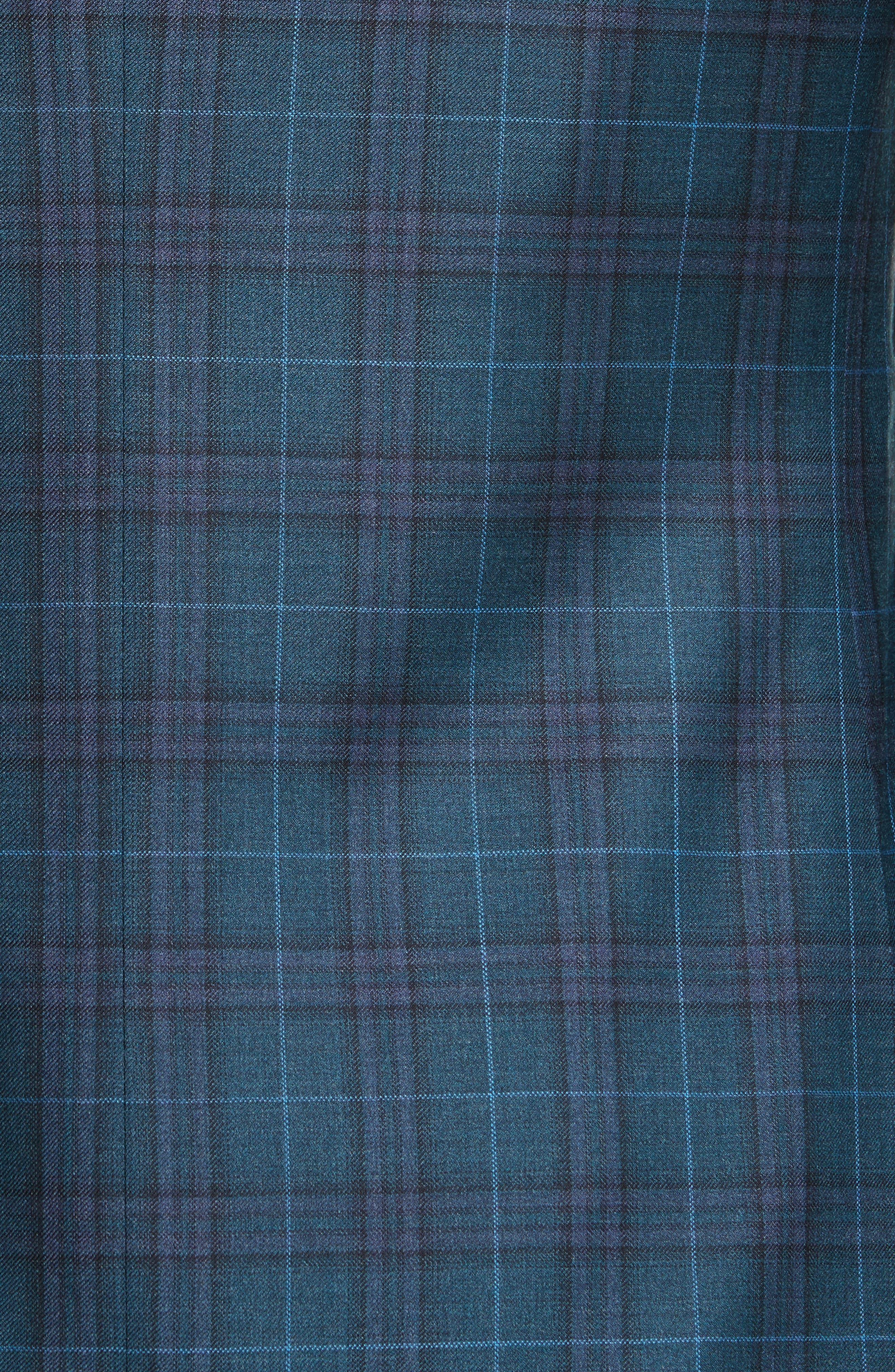 Classic Fit Plaid Wool Sport Coat,                             Alternate thumbnail 6, color,                             301
