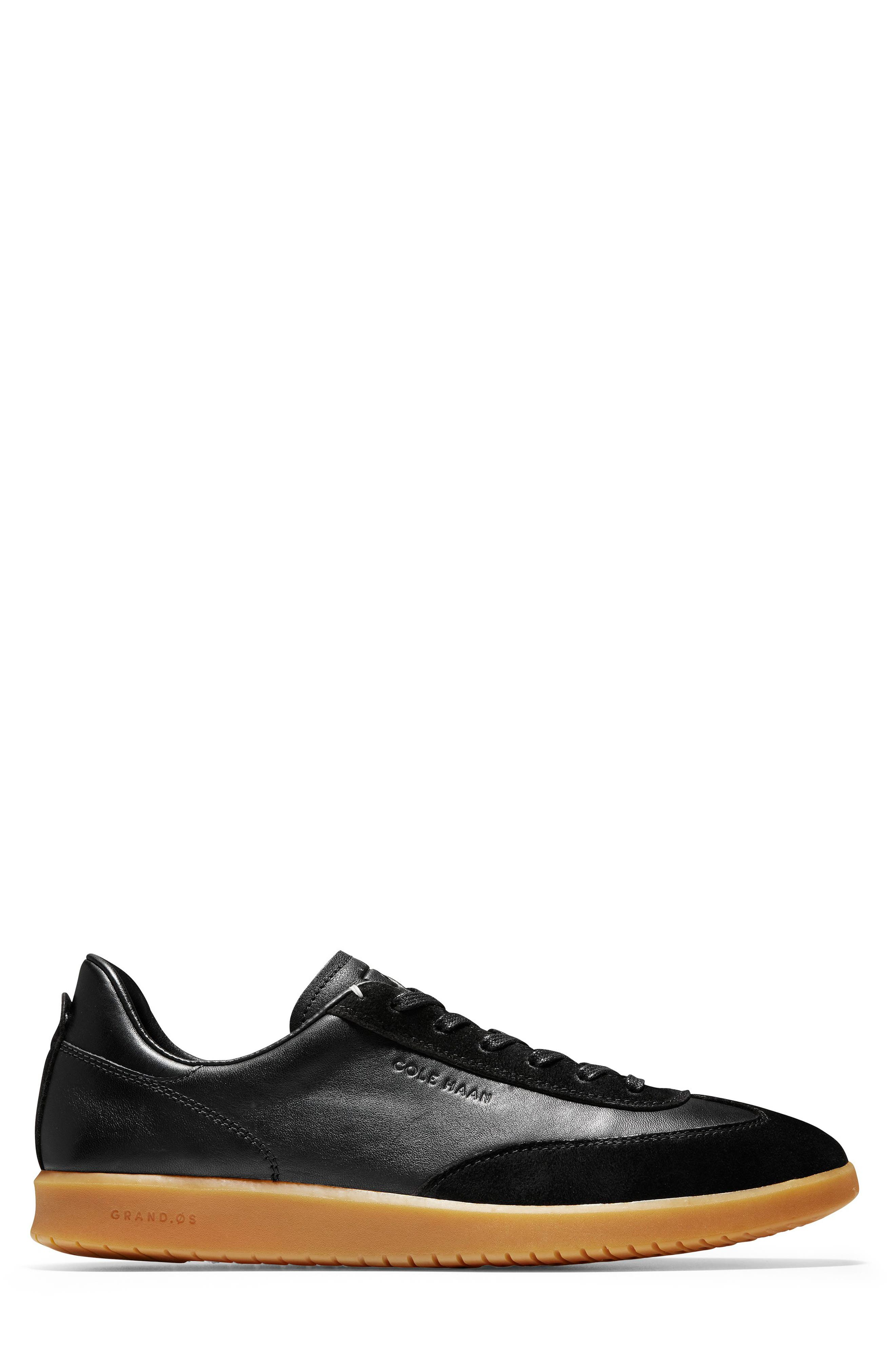 GrandPro Turf Sneaker,                             Alternate thumbnail 3, color,                             BLACK LEATHER/ SUEDE