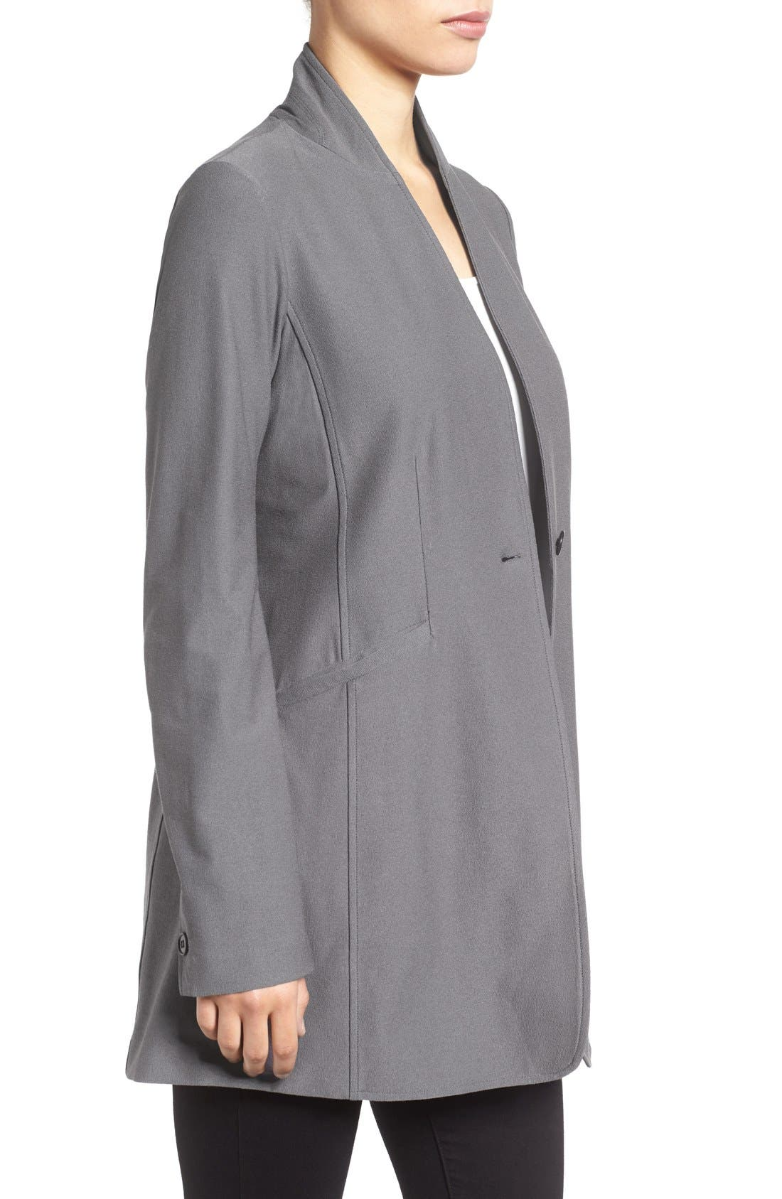Washable Stretch Crepe Stand Collar Jacket,                             Alternate thumbnail 9, color,