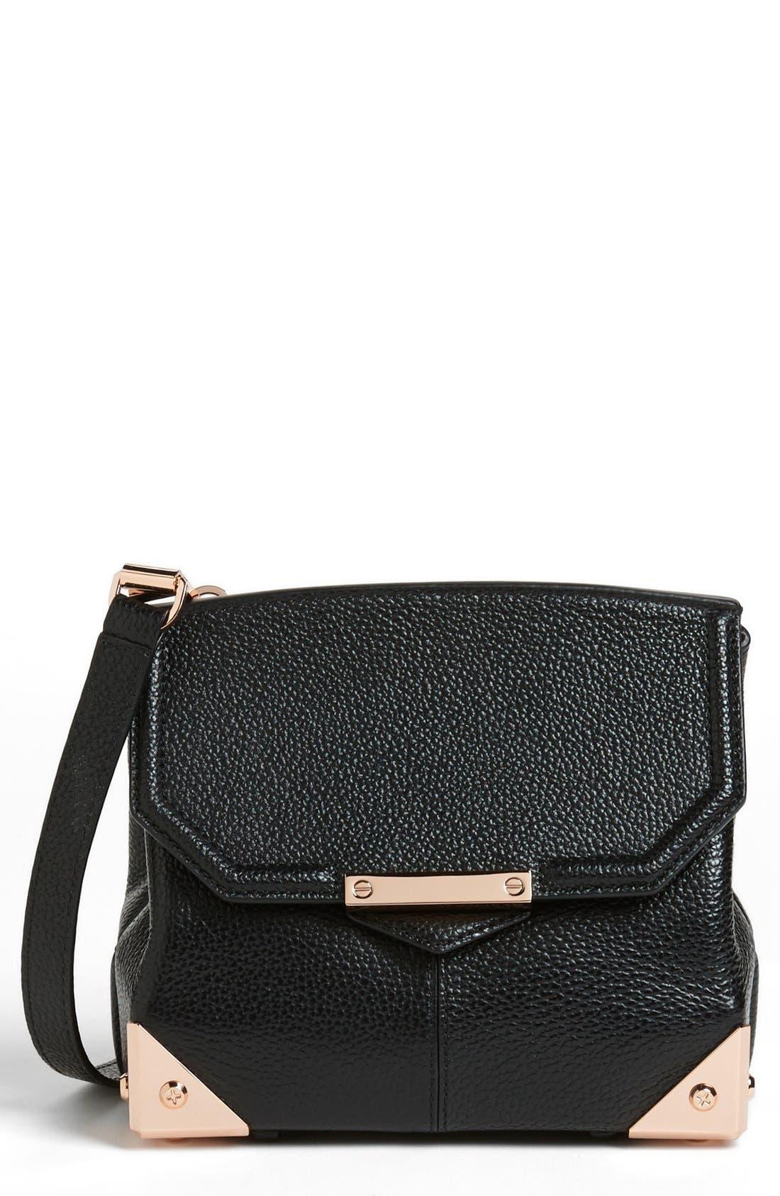ALEXANDER WANG 'Marion - Prisma' Leather Crossbody Bag, Main, color, 001