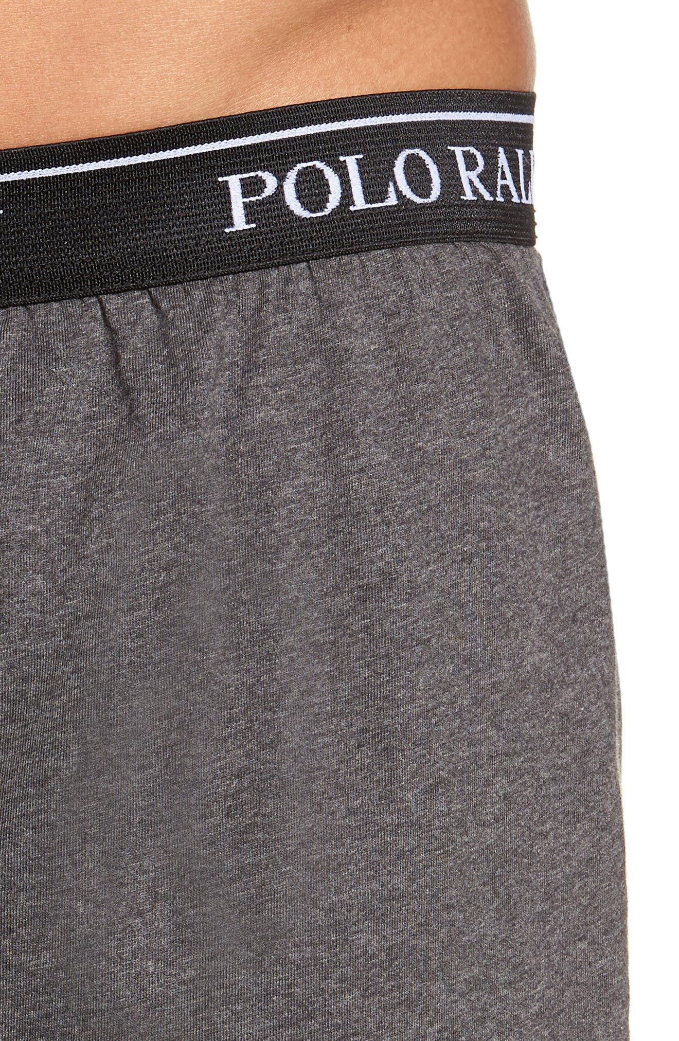 Polo Ralph Lauren 5-Pack Cotton Boxers,                             Alternate thumbnail 5, color,                             GREY/ BLACK MULTI