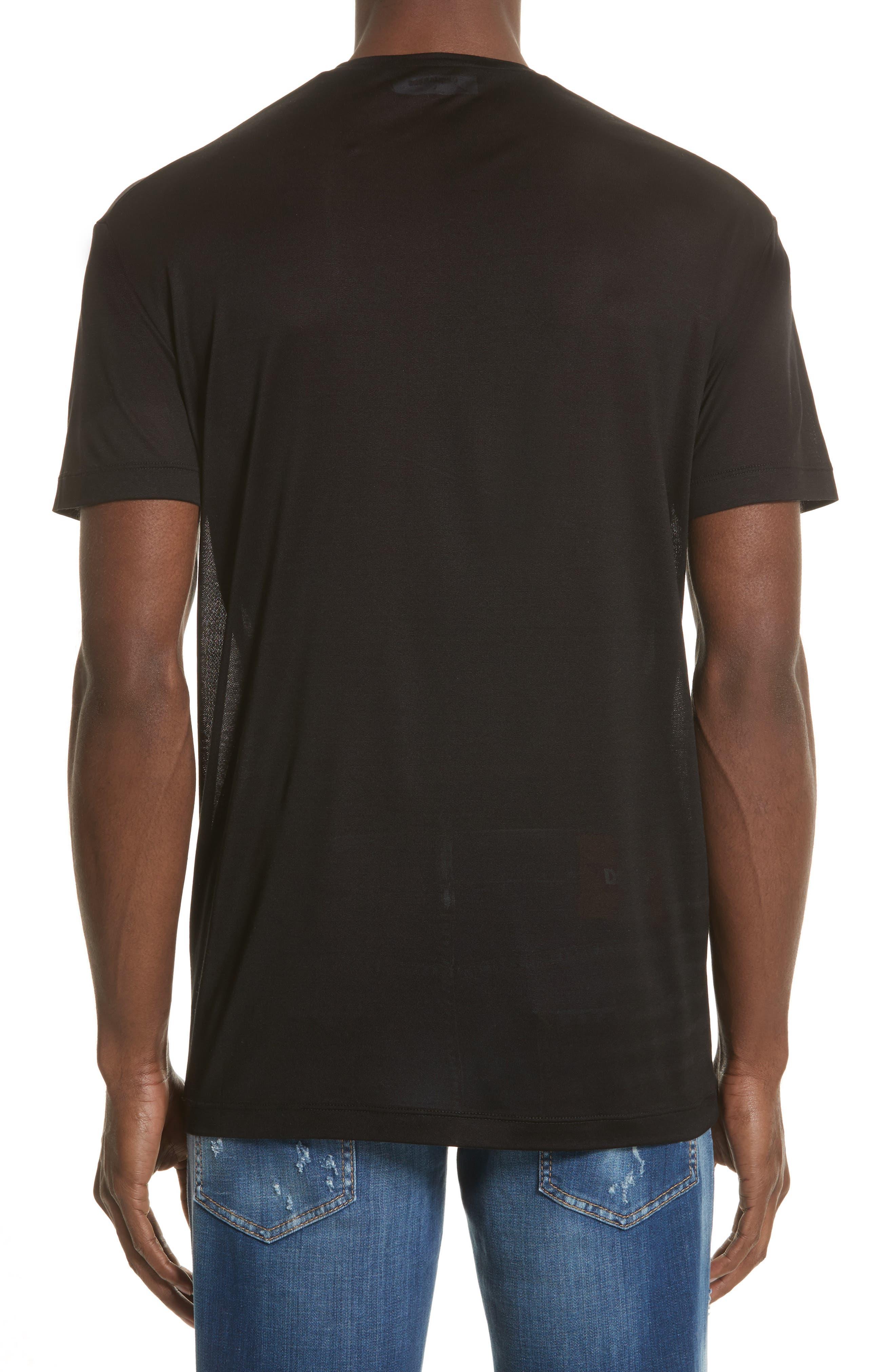 Silk Jersey T-Shirt,                             Alternate thumbnail 2, color,                             001
