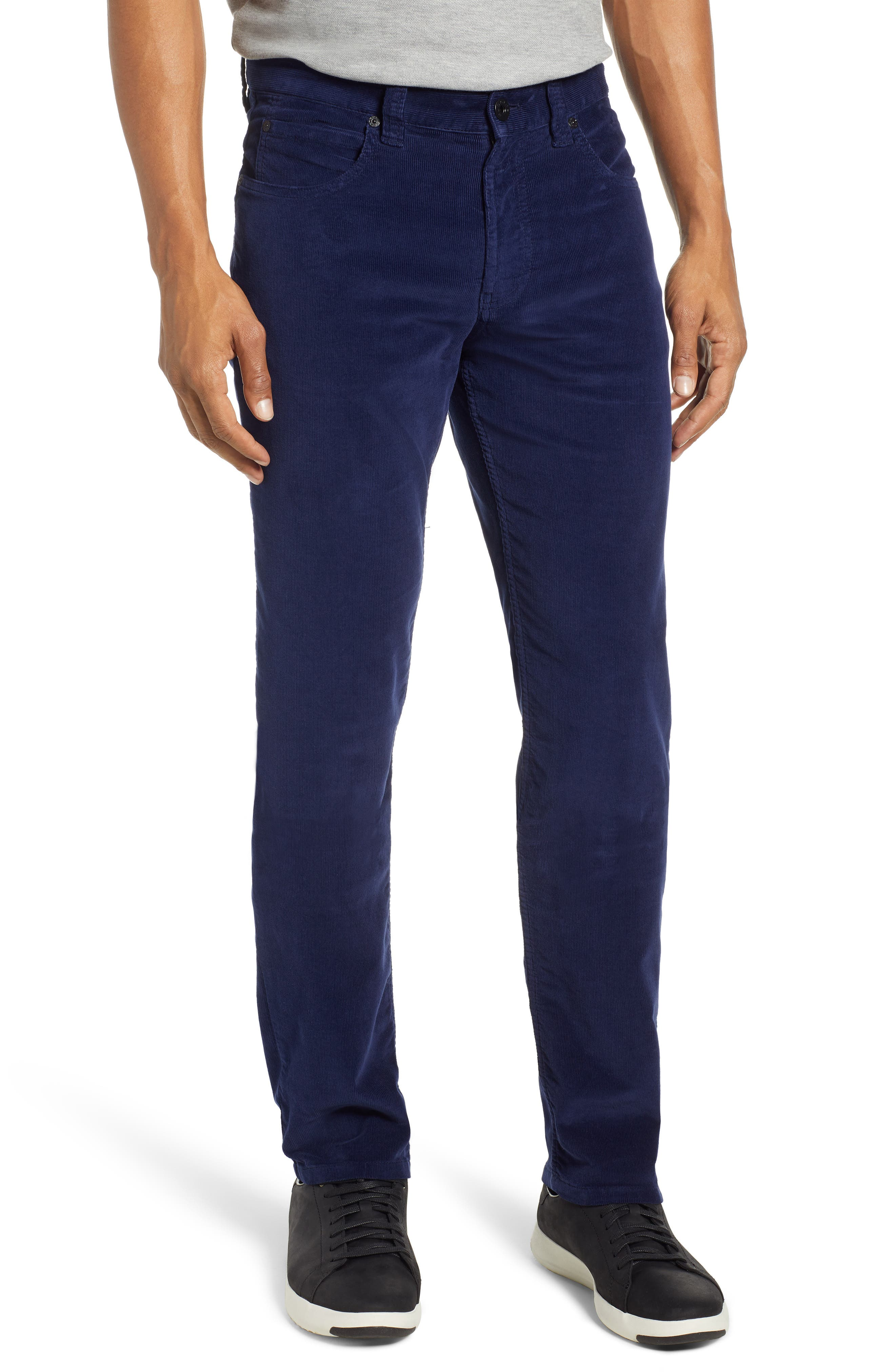 Slim Fit Corduroy Jeans,                         Main,                         color, MIDNIGHT