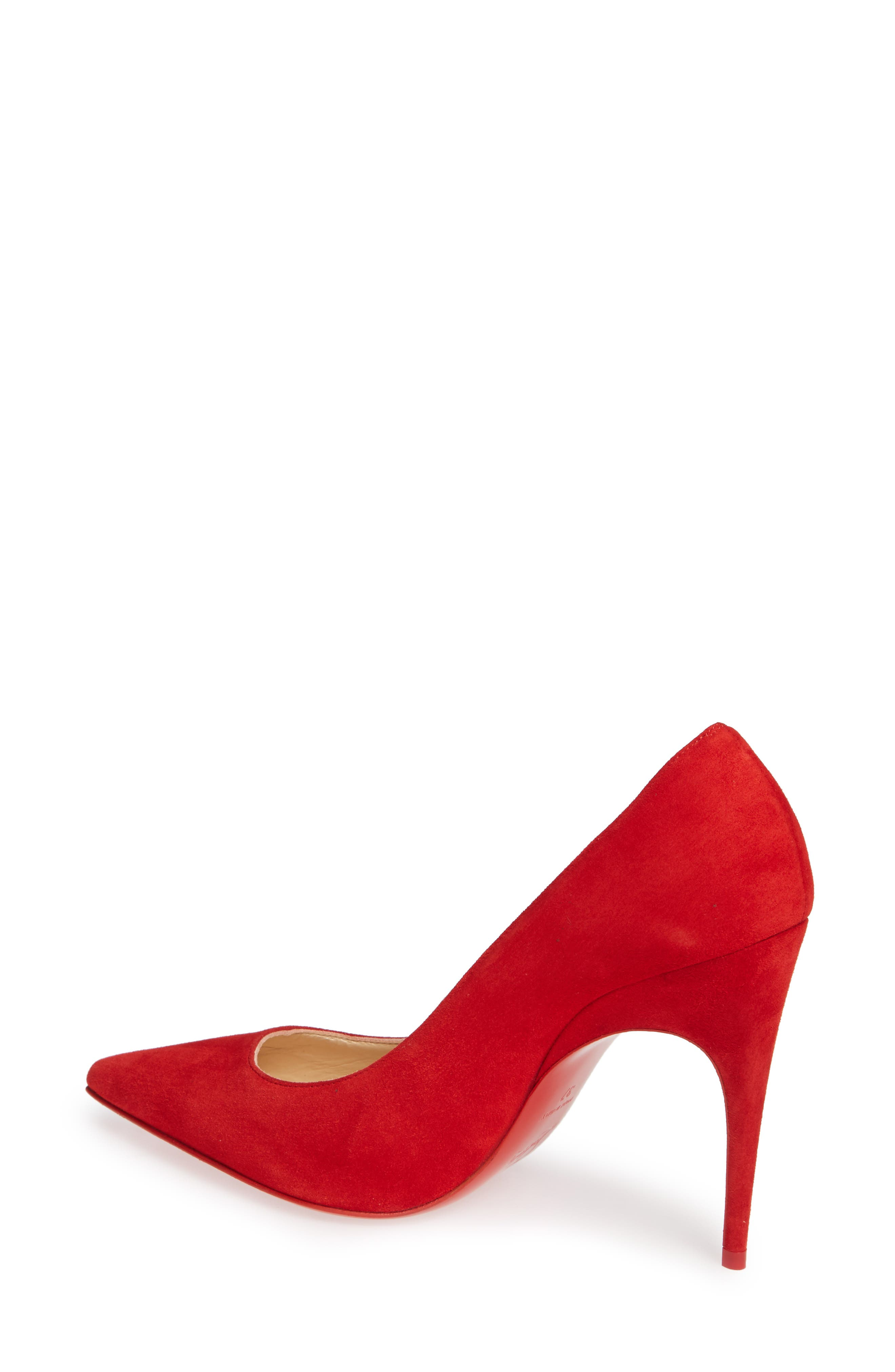 Alminette Pointy Toe Pump,                             Alternate thumbnail 2, color,                             LOUBI RED