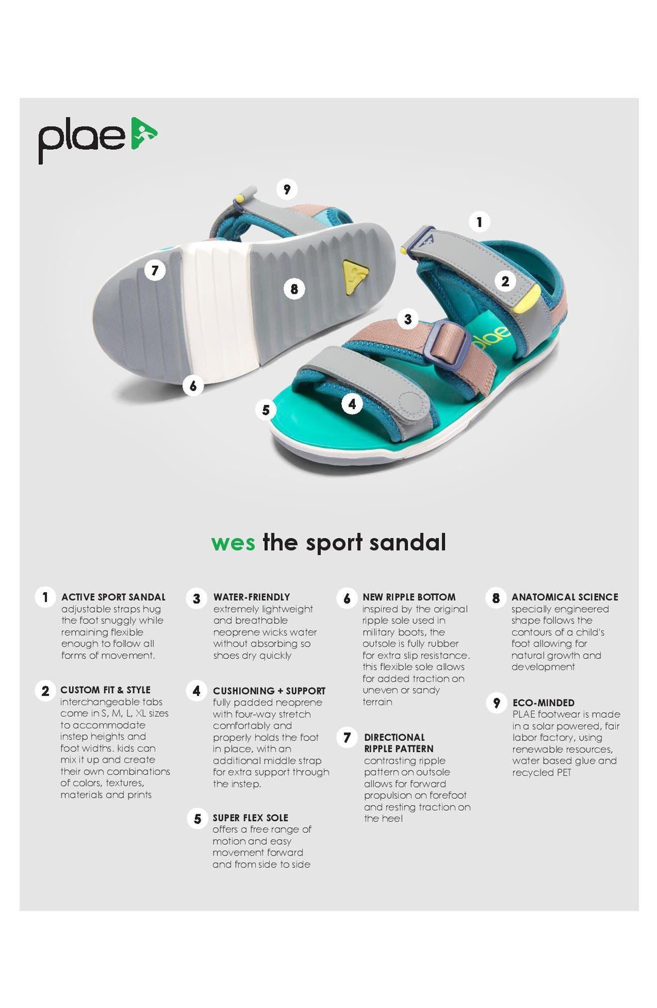 Wes Customizable Sandal,                             Alternate thumbnail 7, color,                             421