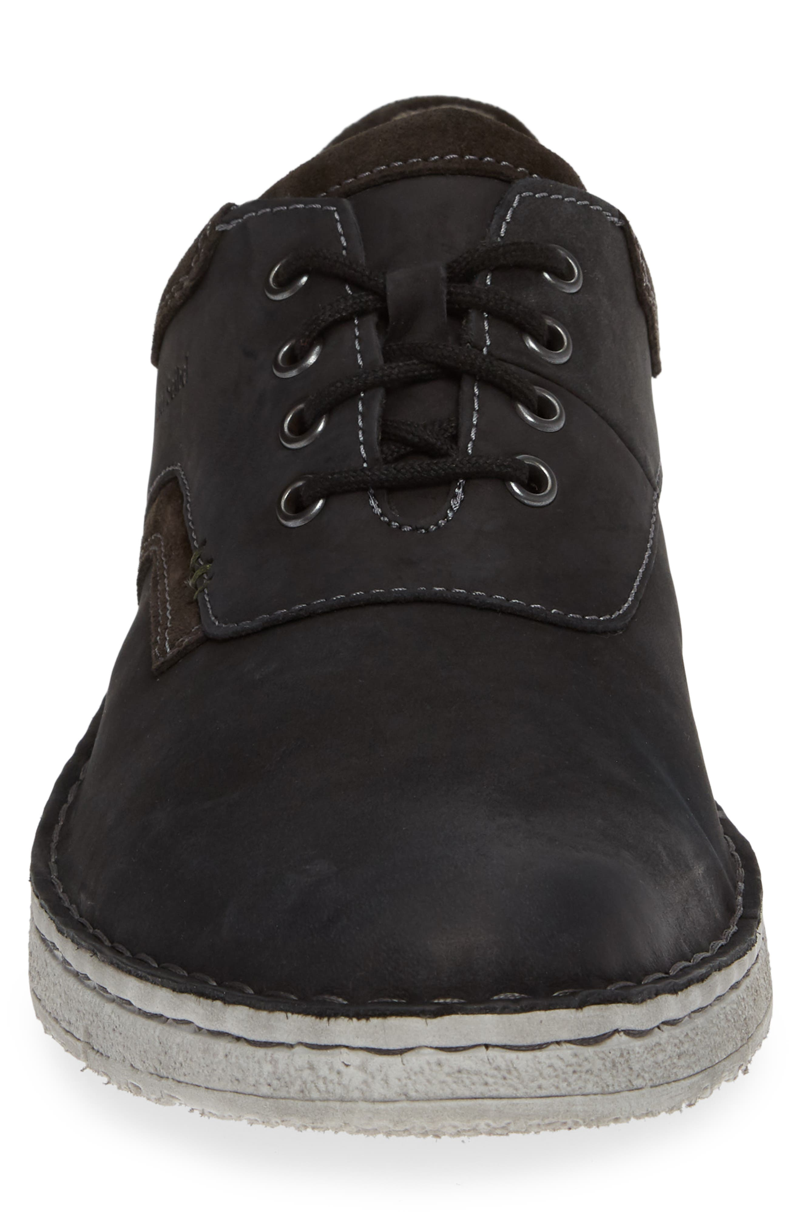 Ruben 13 Plain Toe Oxford,                             Alternate thumbnail 4, color,                             BLACK MARANELLO SUEDE