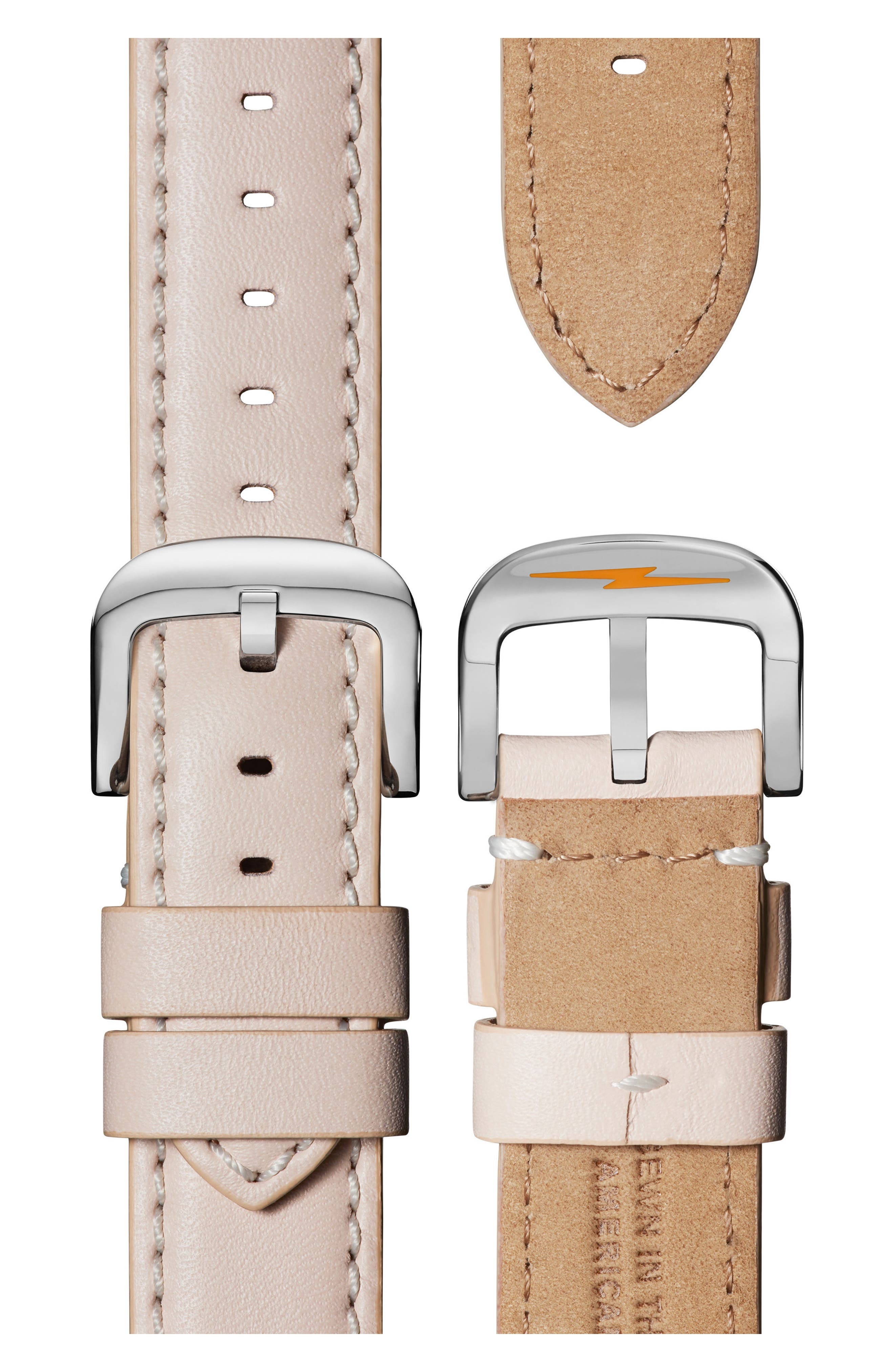 The Canfield Chrono Leather Strap Watch, 40mm,                             Alternate thumbnail 4, color,                             BLUSH/ WHITE/ ROSE GOLD
