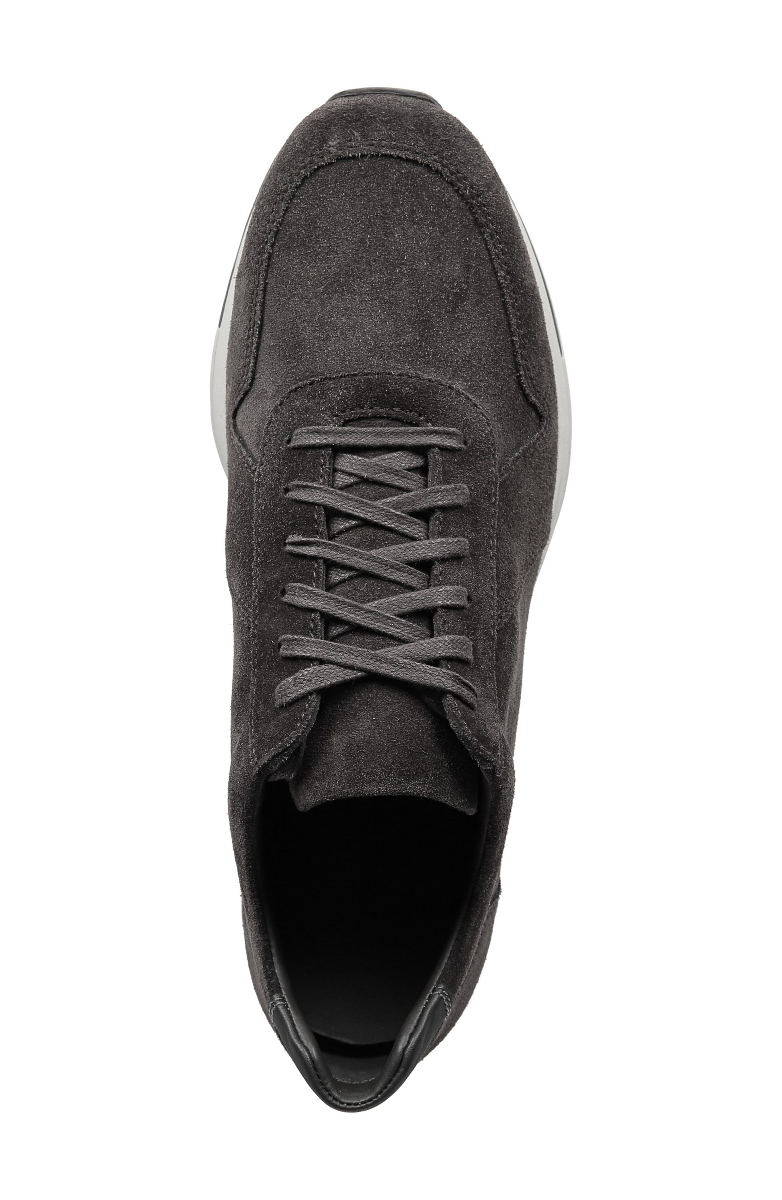 VINCE,                             Pryor Suede Sneaker,                             Alternate thumbnail 4, color,                             020