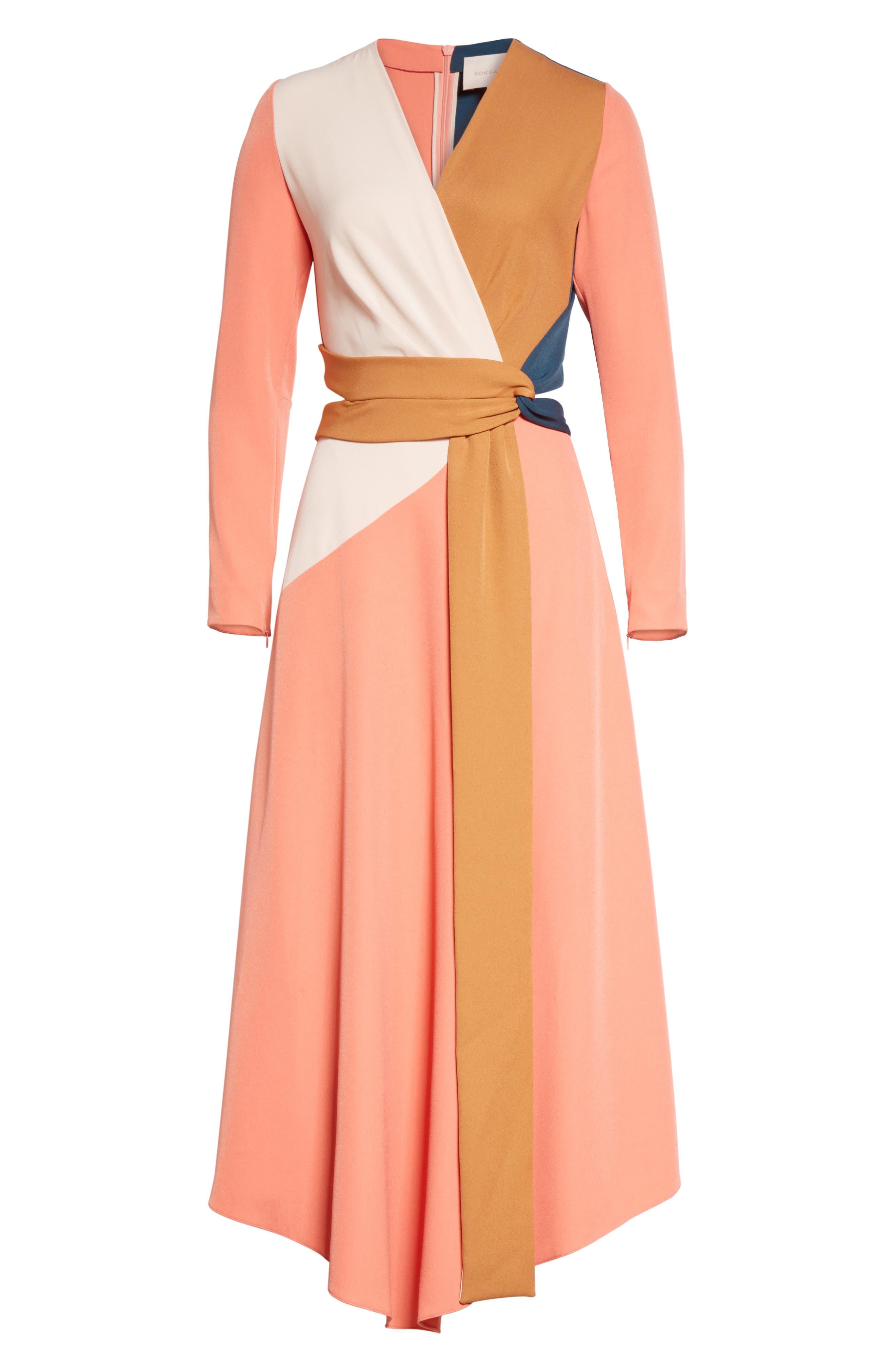 Himera Wrap Dress,                             Alternate thumbnail 6, color,                             950