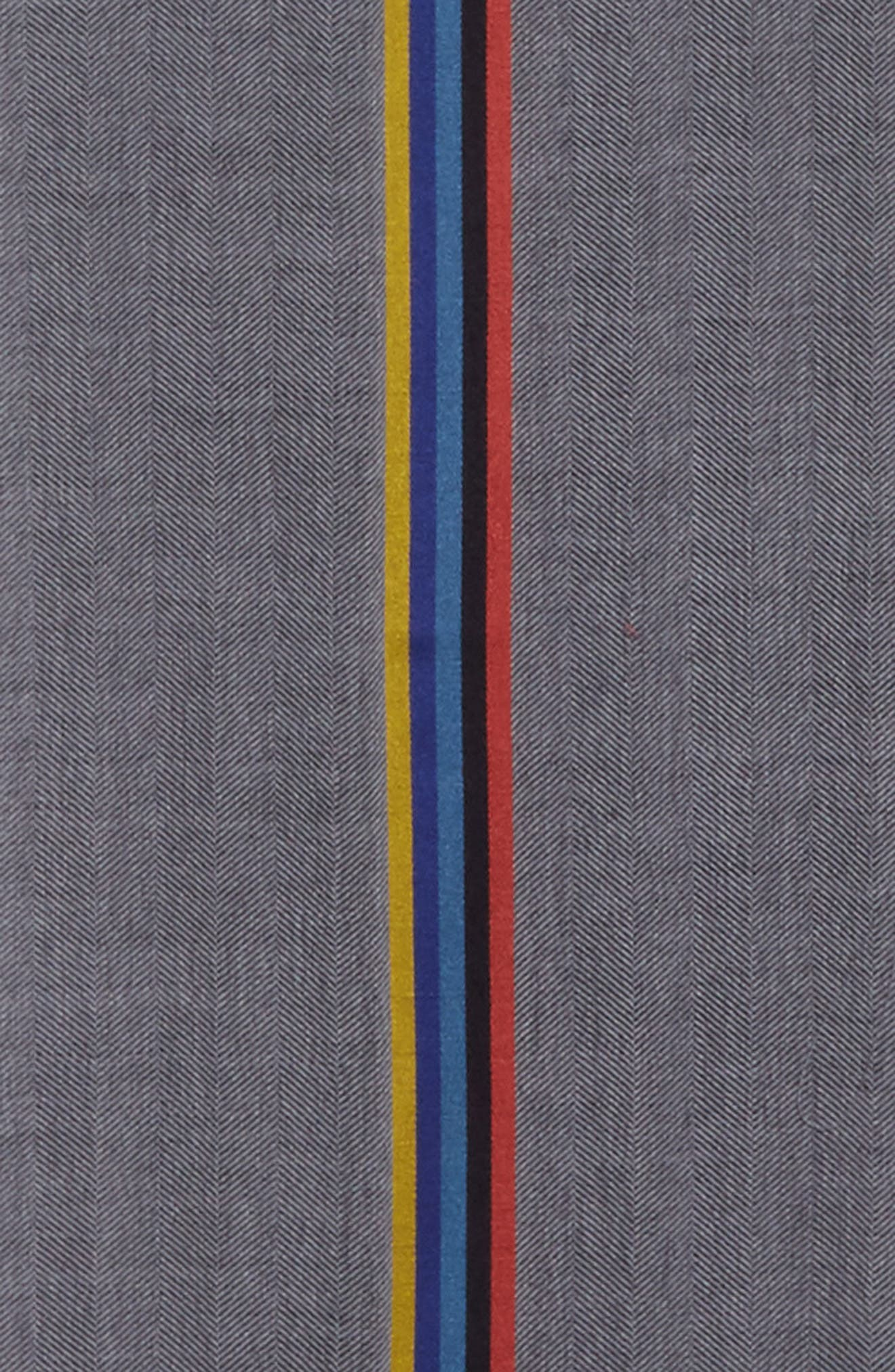 Central Stripe Wool & Silk Scarf,                             Alternate thumbnail 8, color,