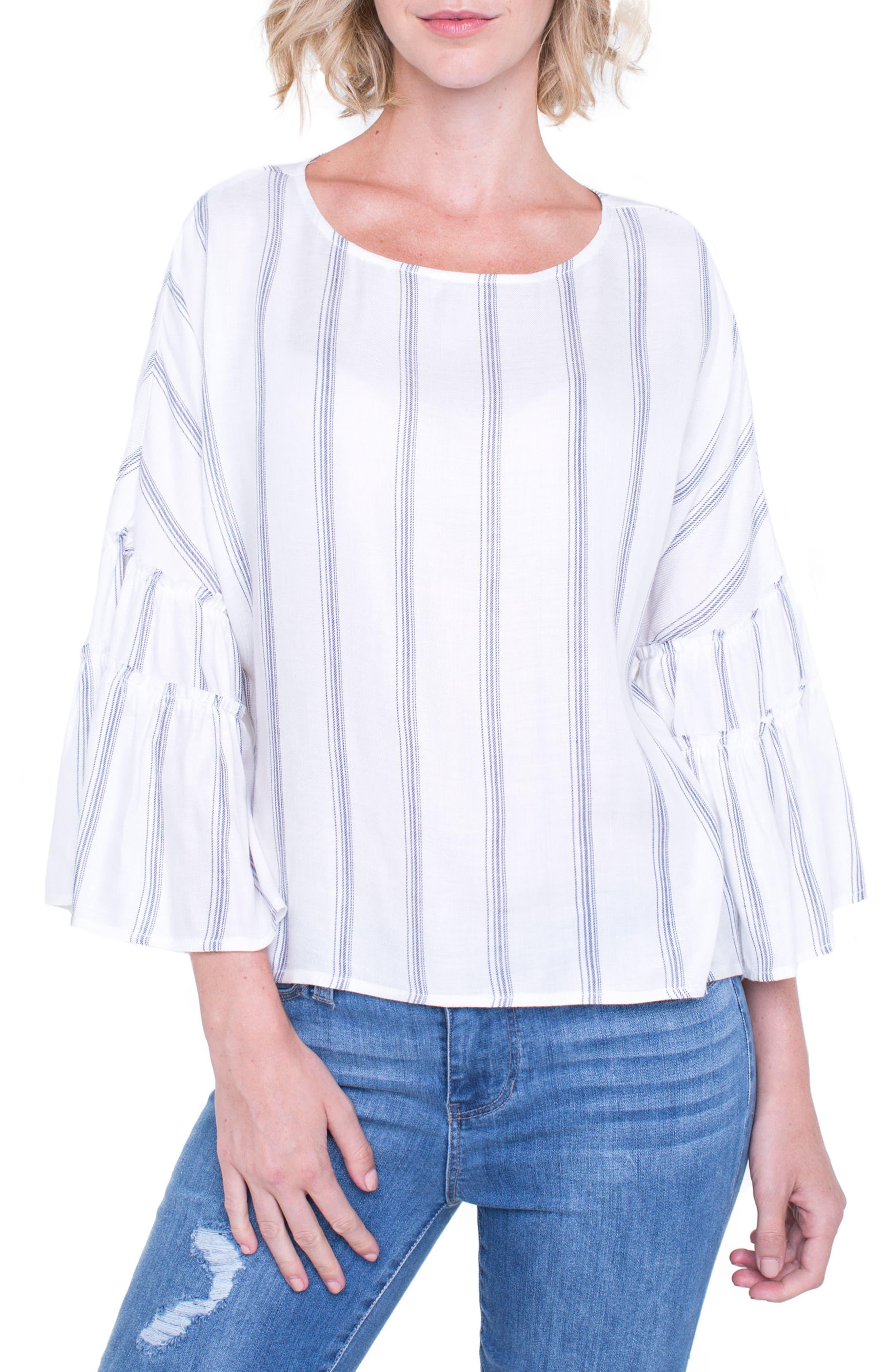 Voluminous Sleeve Shirt,                             Alternate thumbnail 4, color,                             100