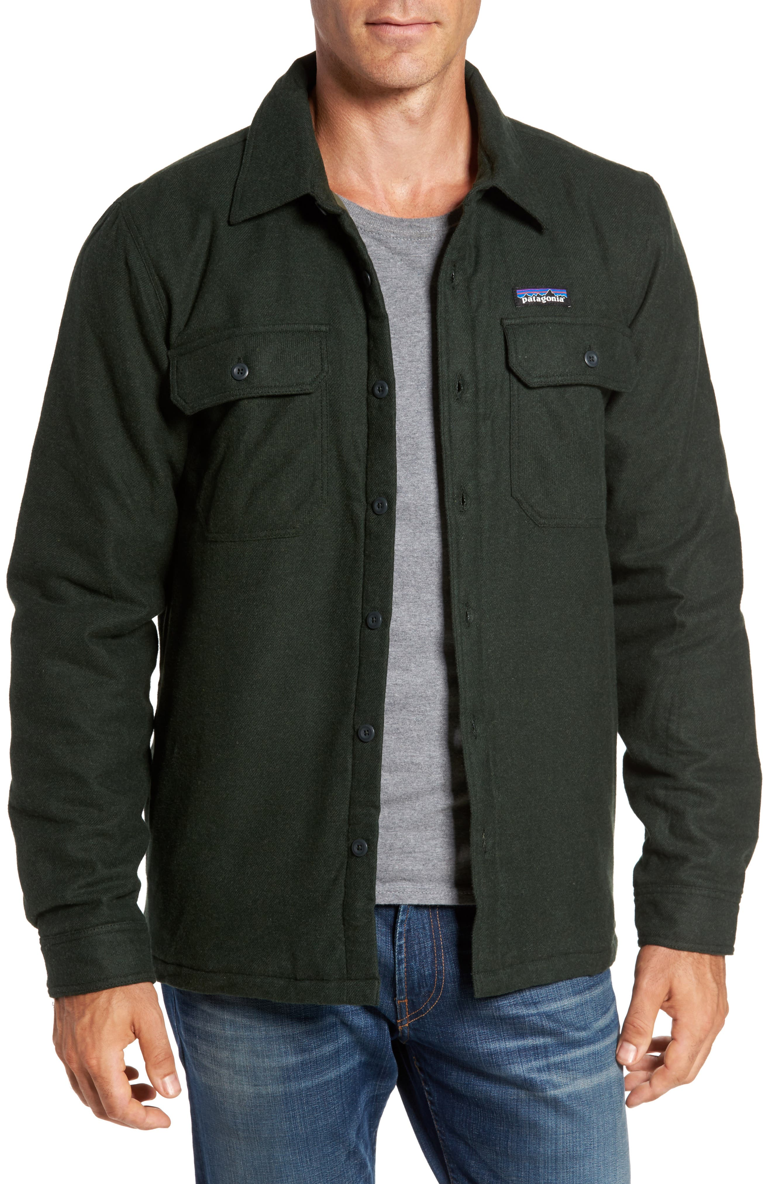 'Fjord' Flannel Shirt Jacket, Main, color, 002