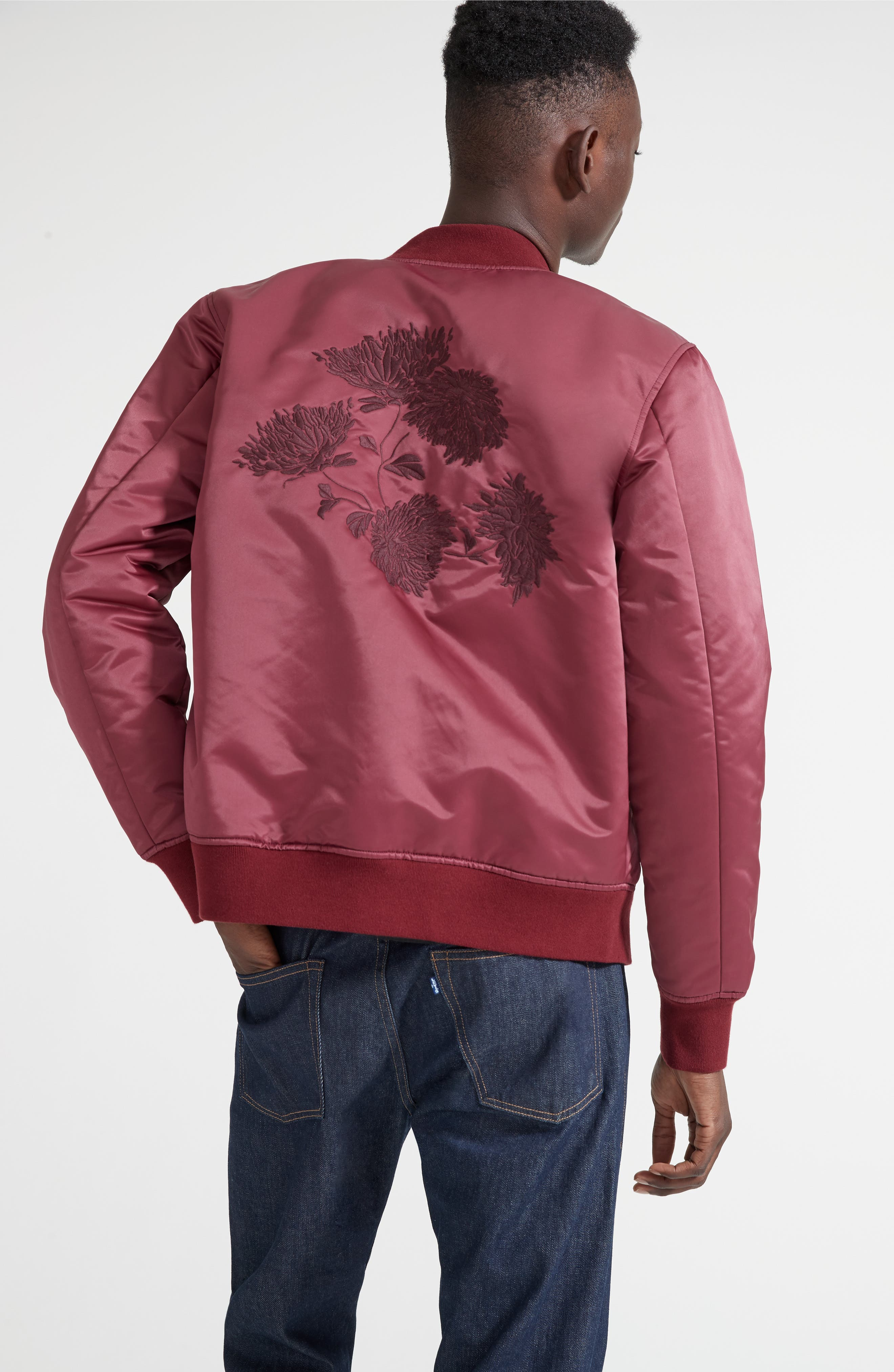 Embroidered Souvenir Bomber Jacket,                             Alternate thumbnail 7, color,                             600