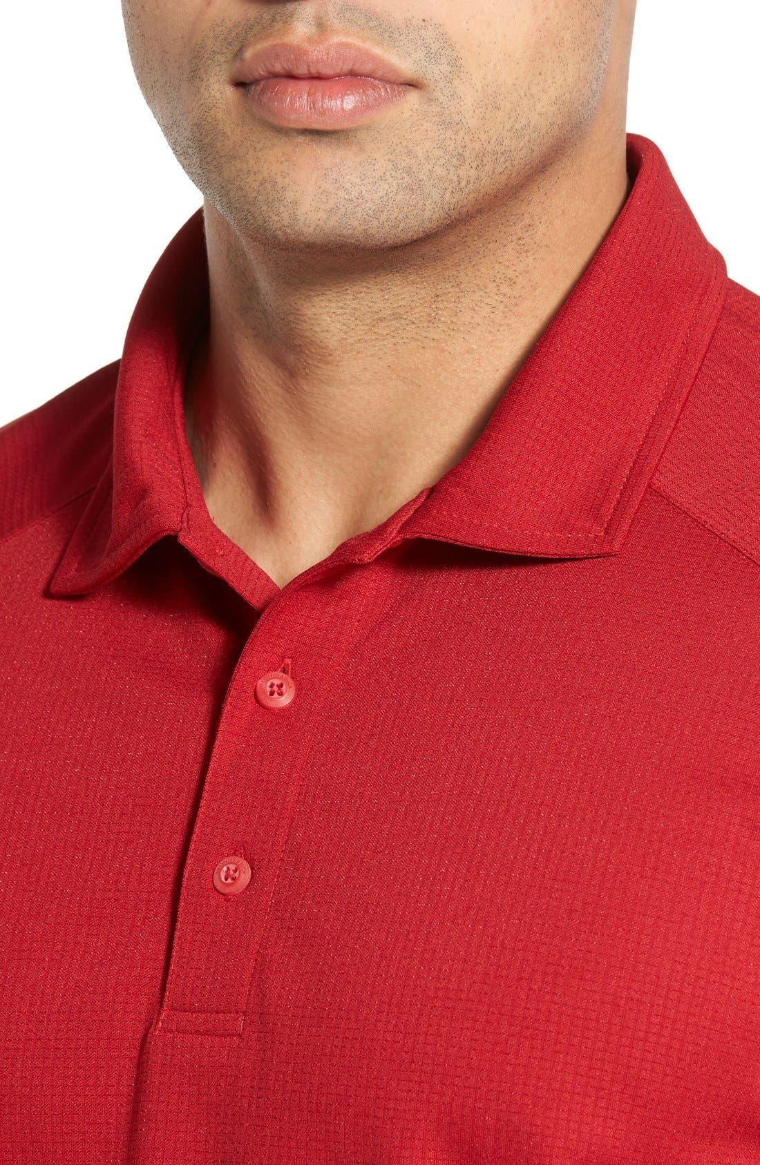 'Genre' DryTec Moisture Wicking Polo,                             Alternate thumbnail 5, color,                             CARDINAL RED