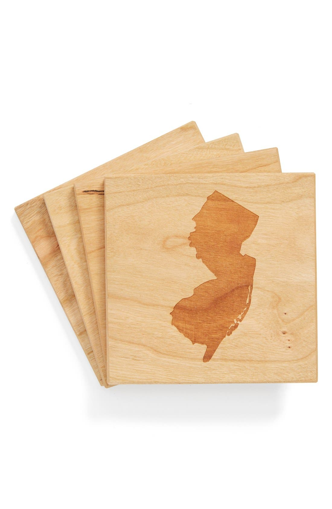 'State Silhouette' Coasters,                             Main thumbnail 34, color,