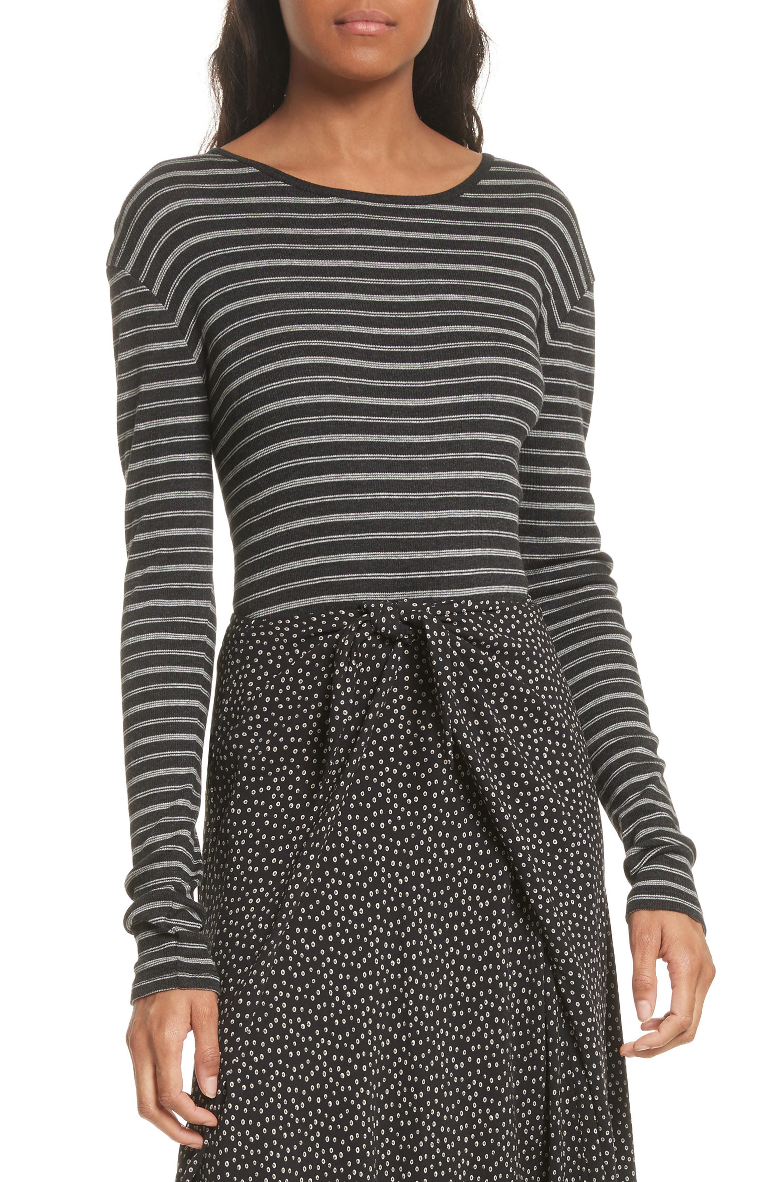 Double Stripe Top,                         Main,                         color, 007