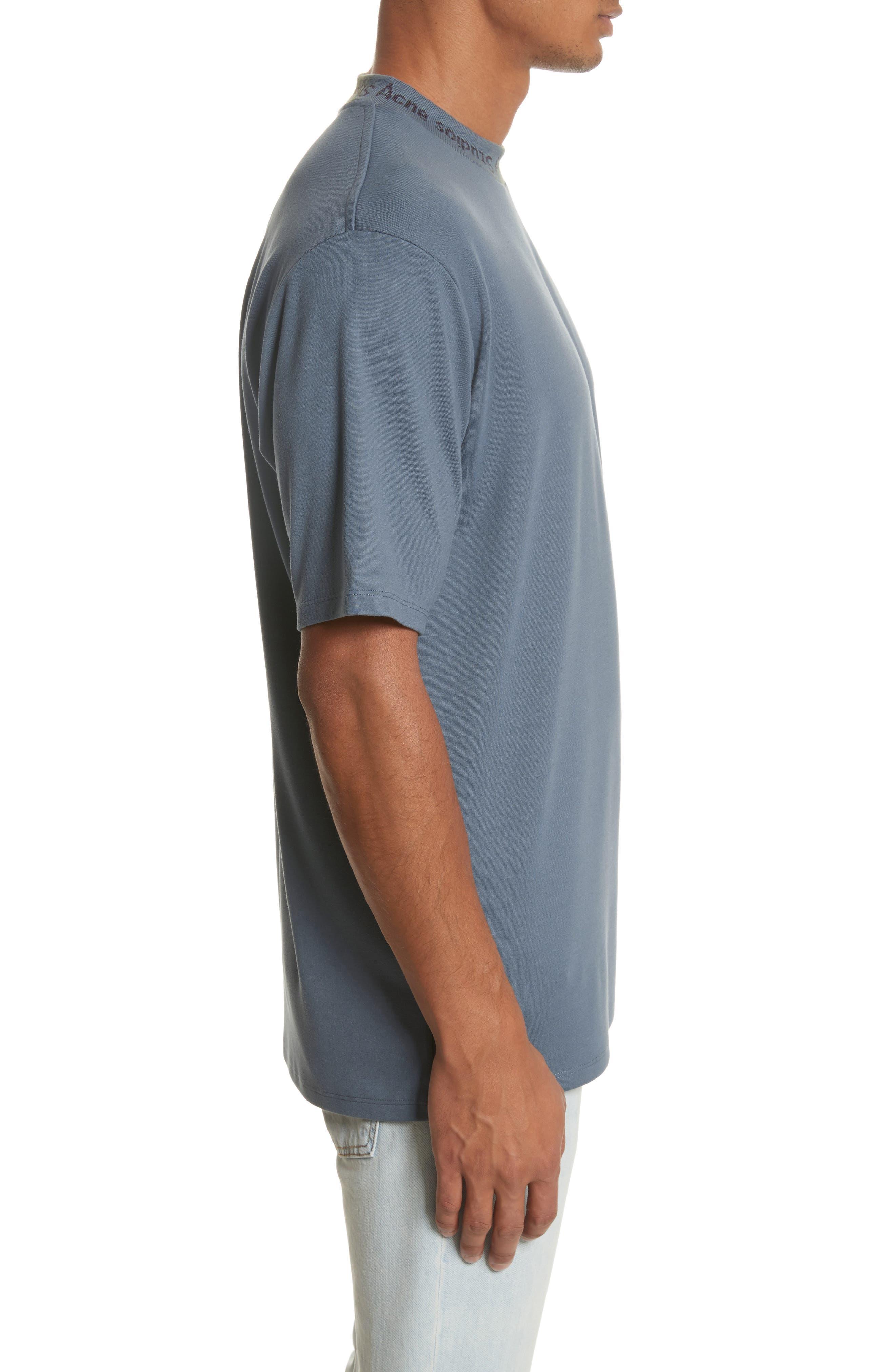 Navid Logo Collar T-Shirt,                             Alternate thumbnail 3, color,                             PIGEON BLUE