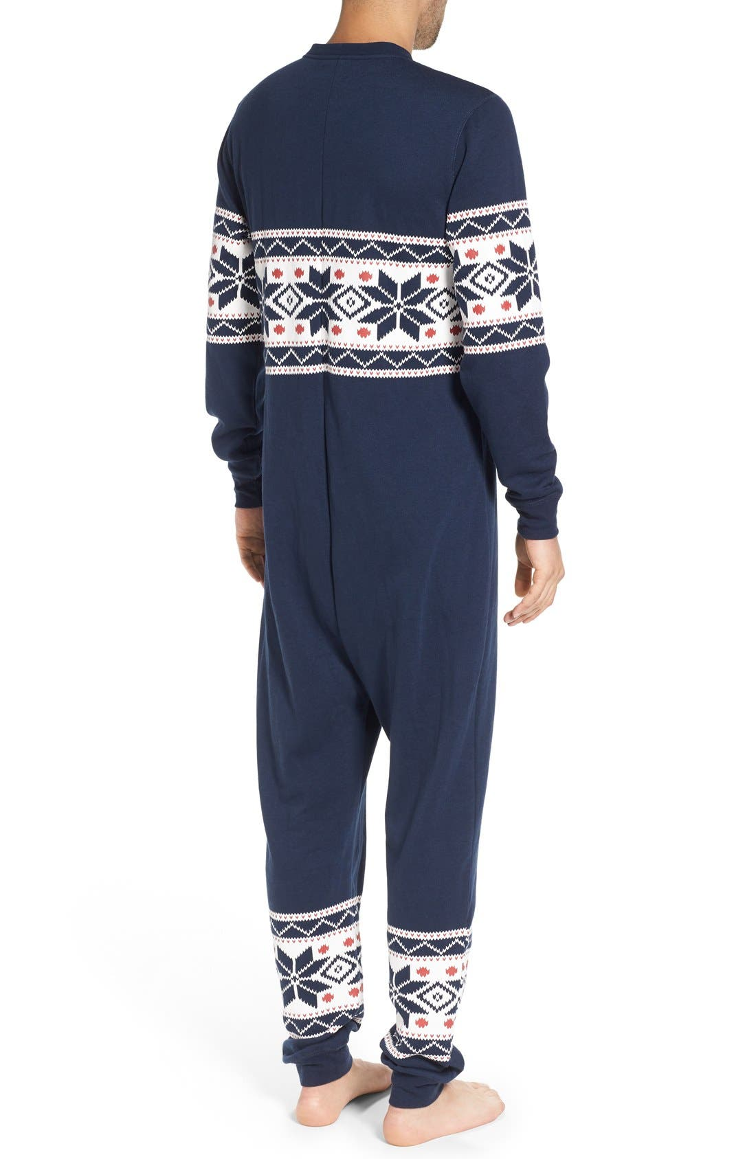 Fleece One-Piece Pajamas,                             Alternate thumbnail 11, color,