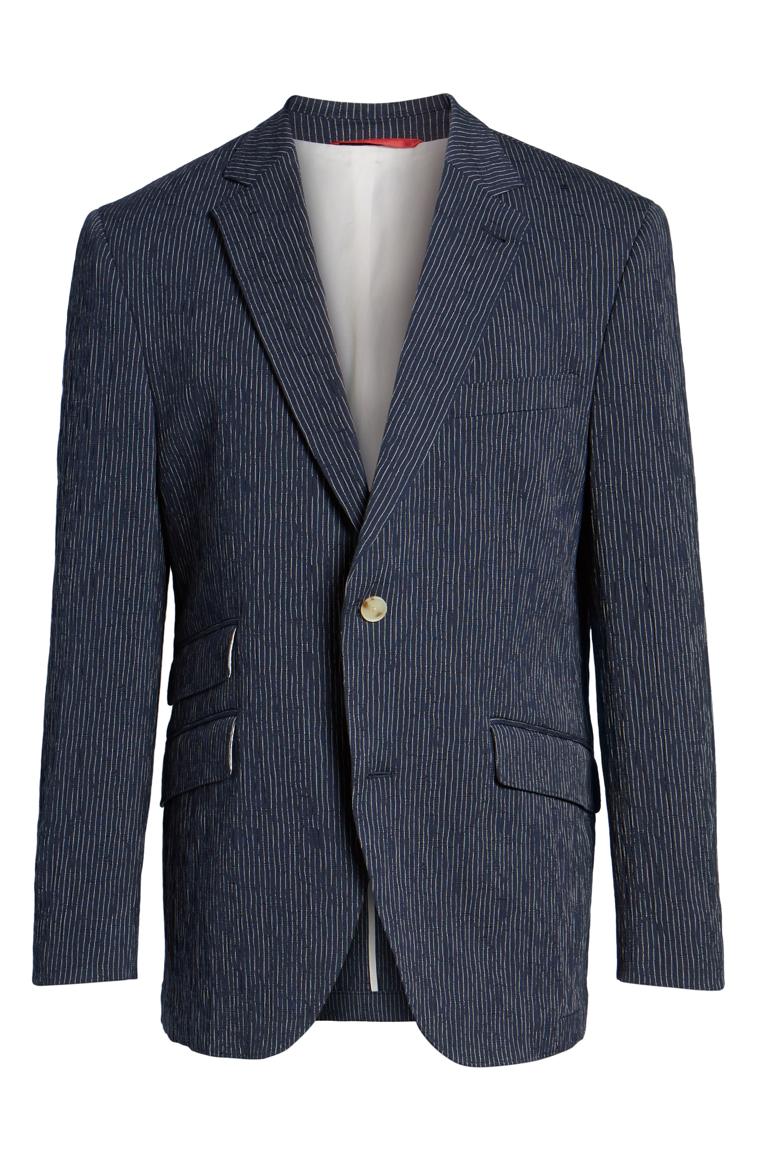 Sting AIM Classic Fit Stretch Stripe Cotton Sport Coat,                             Alternate thumbnail 5, color,                             410